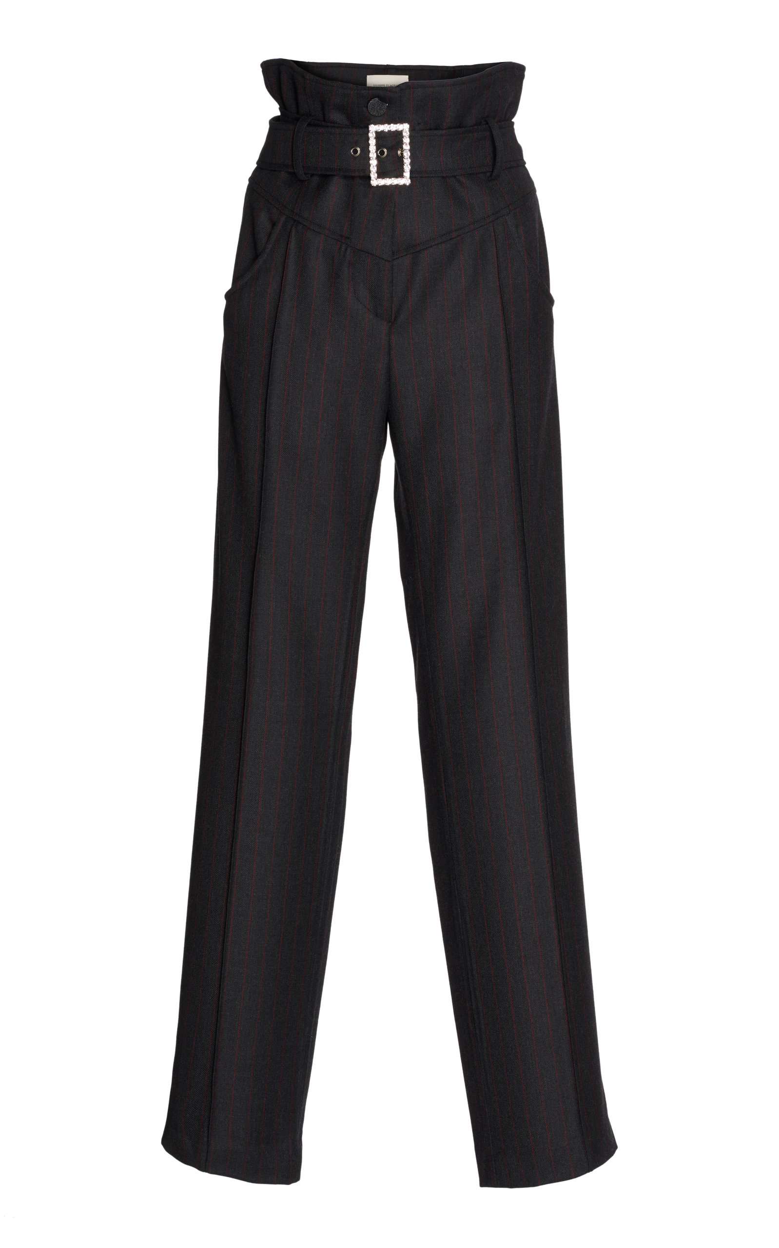 GIUSEPPE DI MORABITO Pinstripe Wool Trouser in Grey