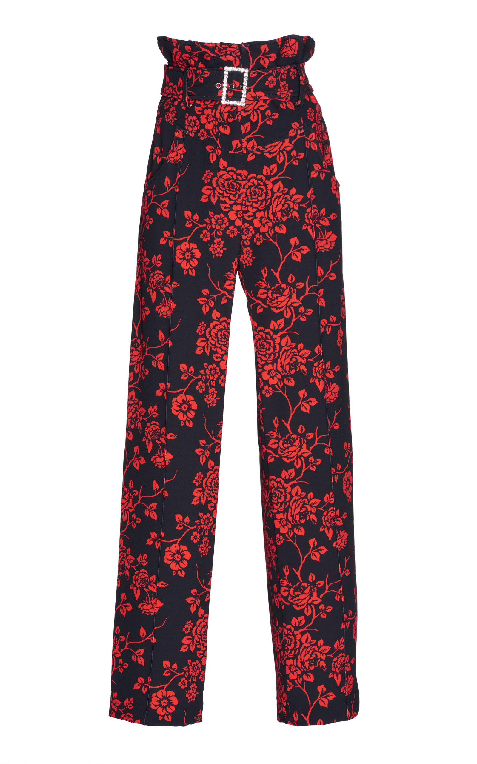 GIUSEPPE DI MORABITO Printed Cady Trouser in Floral