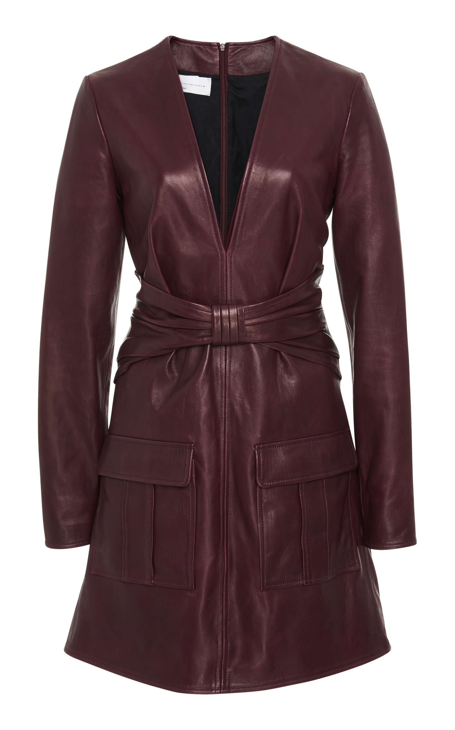 Sale Outlet Bow-Detailed Leather Mini Dress Victoria Beckham Cheap Sale Official Site Clearance Wide Range Of 1yay1sHrGb