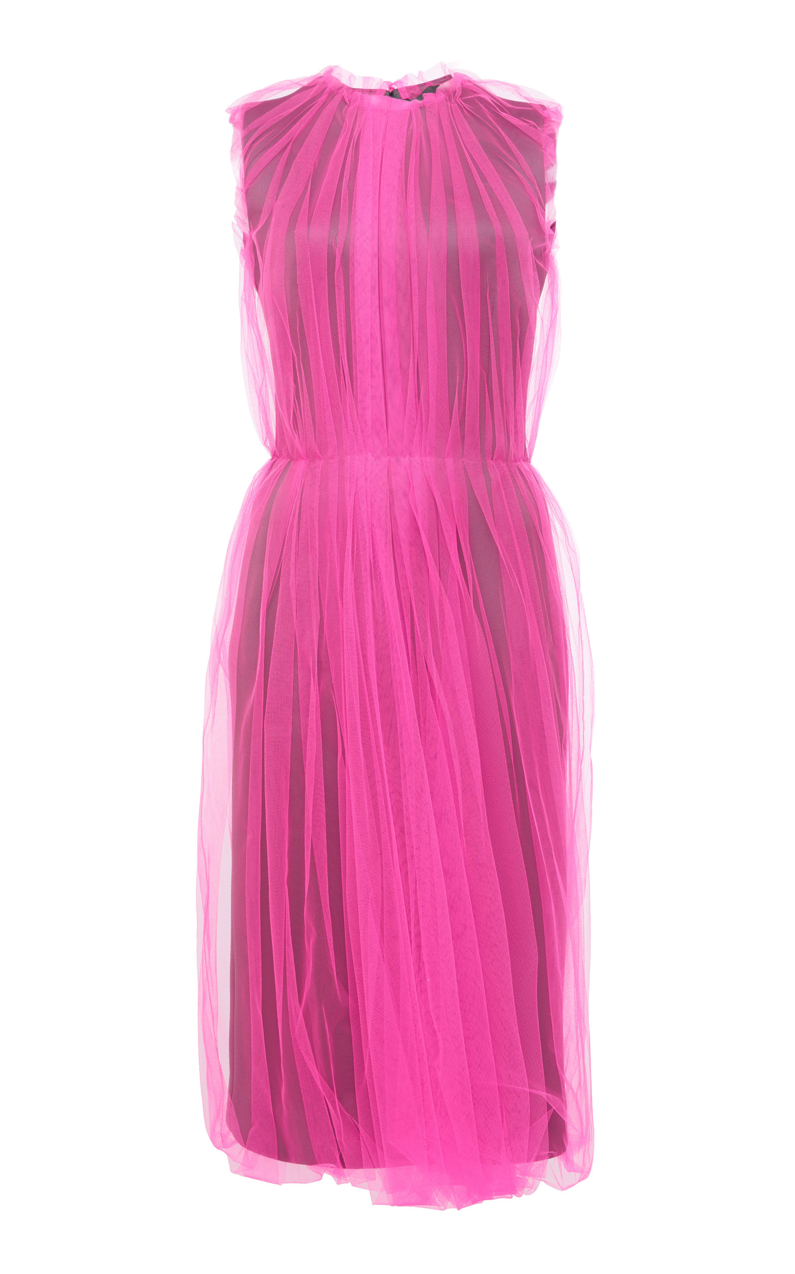 Gathered Dress Prada Original Buy Cheap High Quality Countdown Package Sale Online 7JGadsK