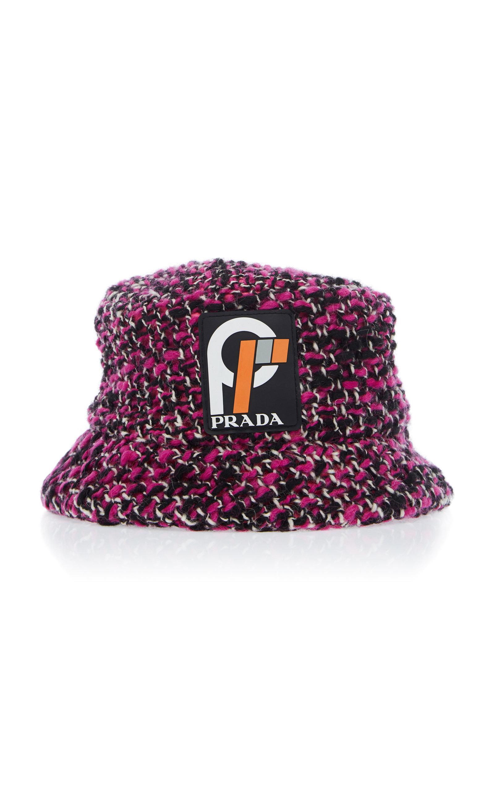 Prada Wool-Blend Bucket Hat In Pink  33452df5190
