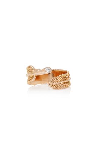 DANIELA VILLEGAS | Daniela Villegas Wing 18K Rose Gold Diamond Ring | Goxip