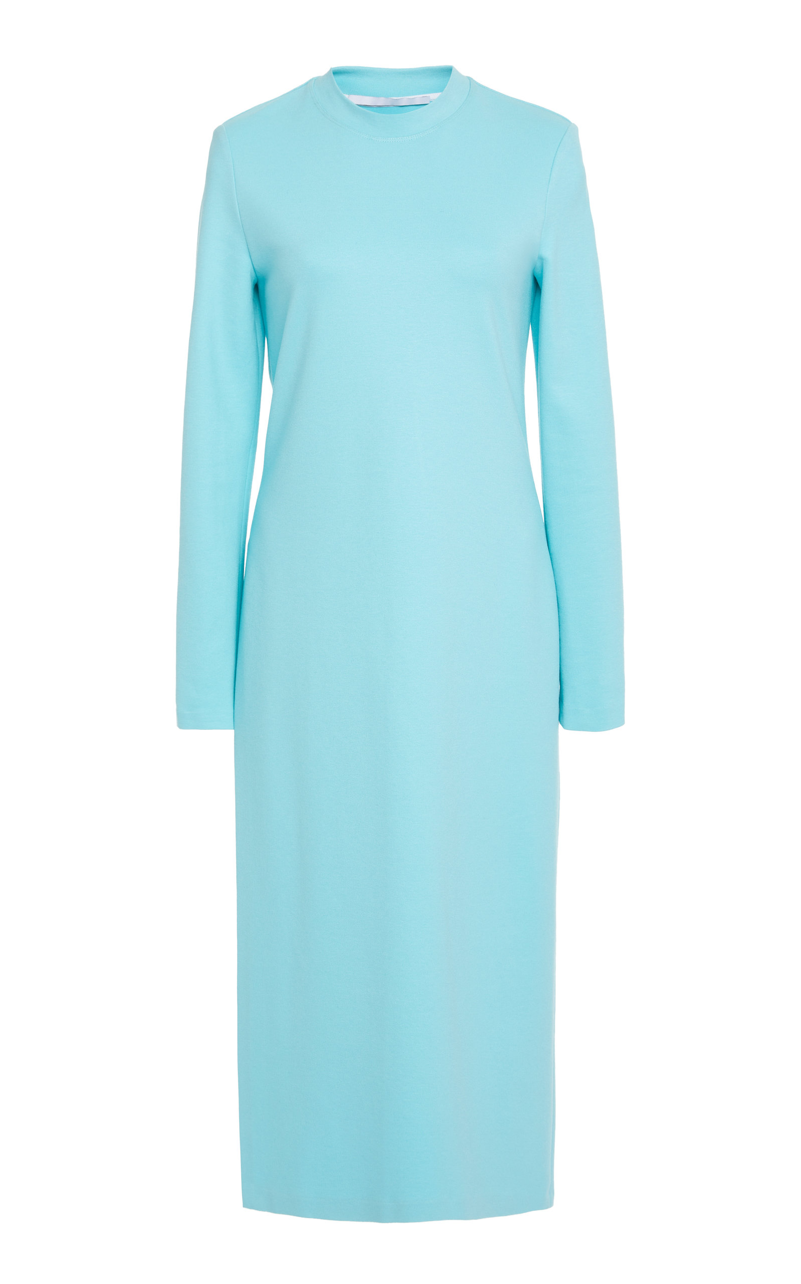 ROSETTA GETTY Front Slit Stretch-Crepe Tunic in Blue