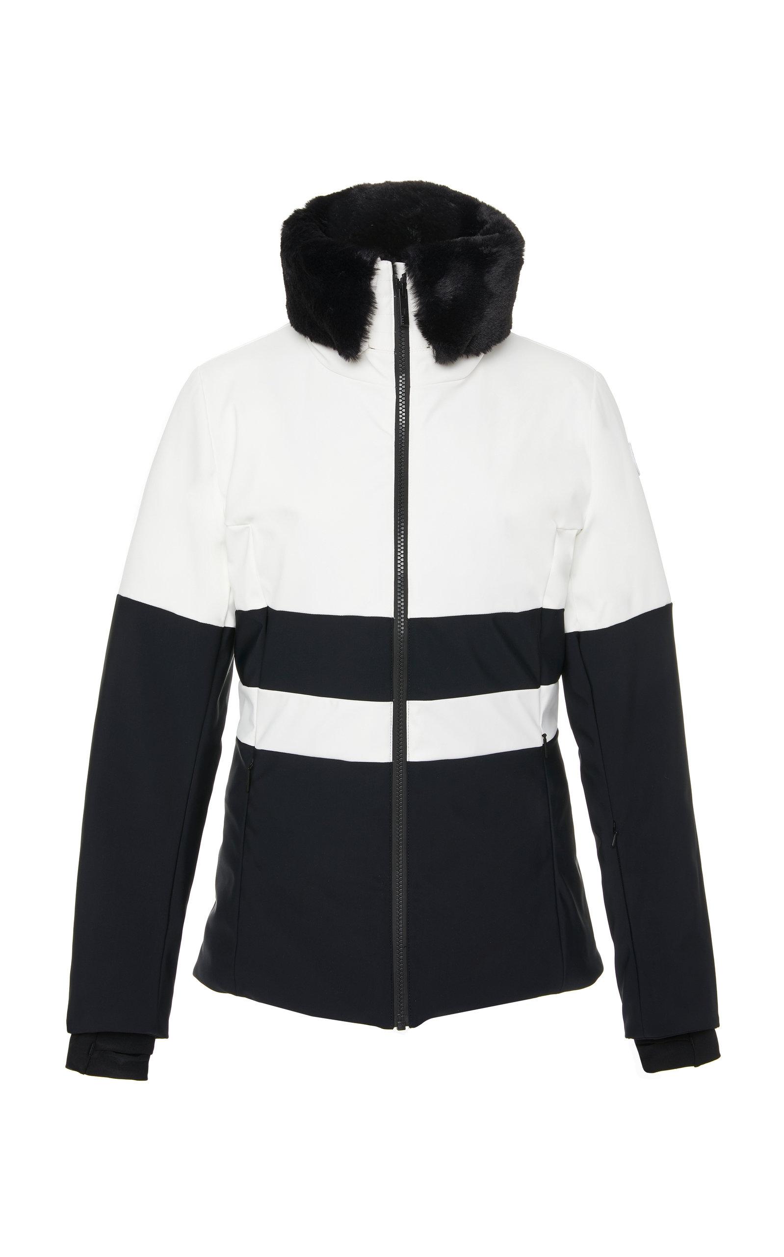 FUSALP Levanne Faux Fur-Trimmed Ski Jacket in Black