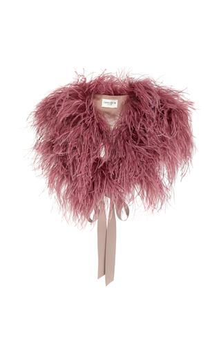 DEMARSON | DEMARSON Zoe Silk-Trimmed Feather Shawl | Goxip