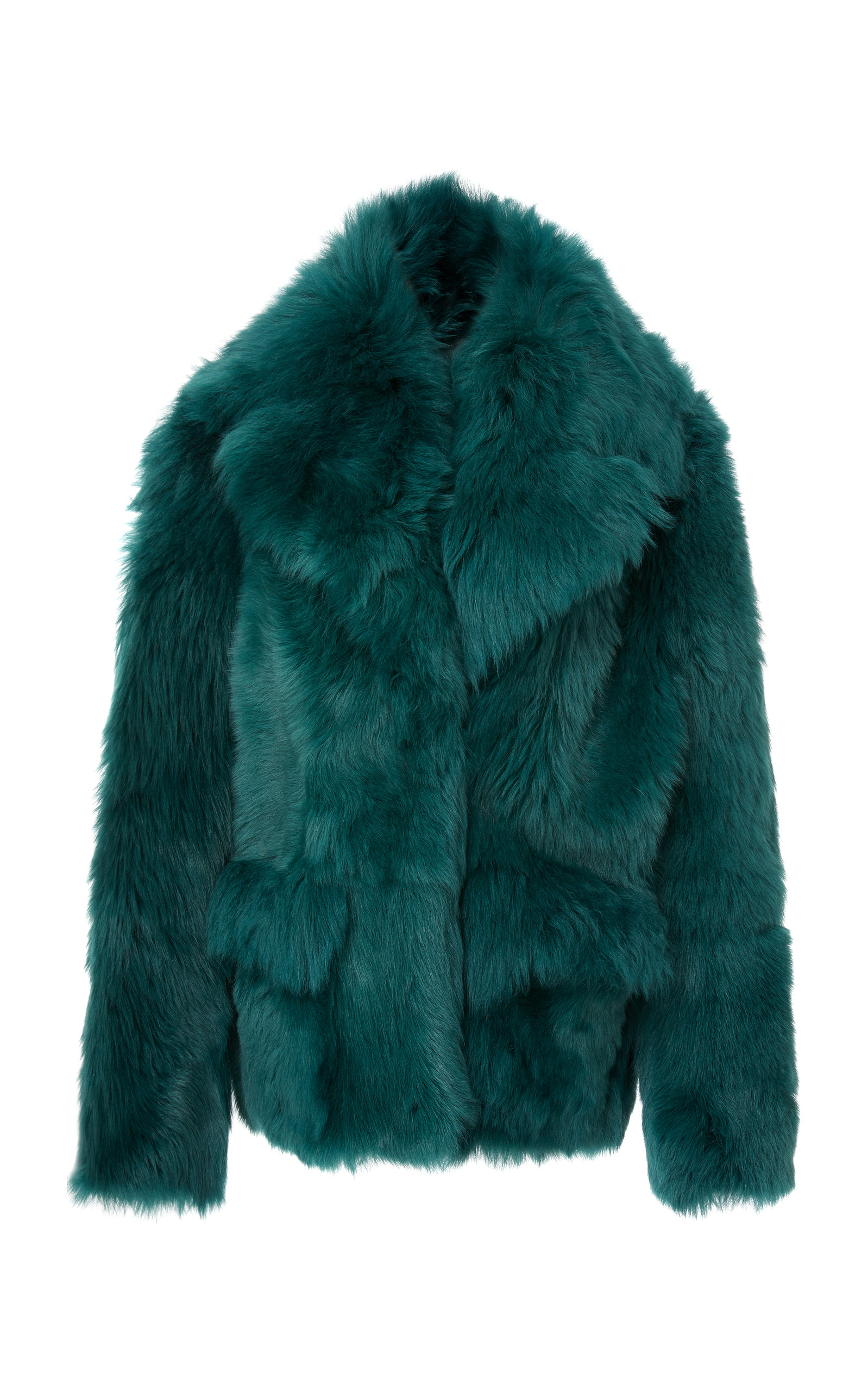 THE ZUZU EXAGGERATED SHEARLING JACKET