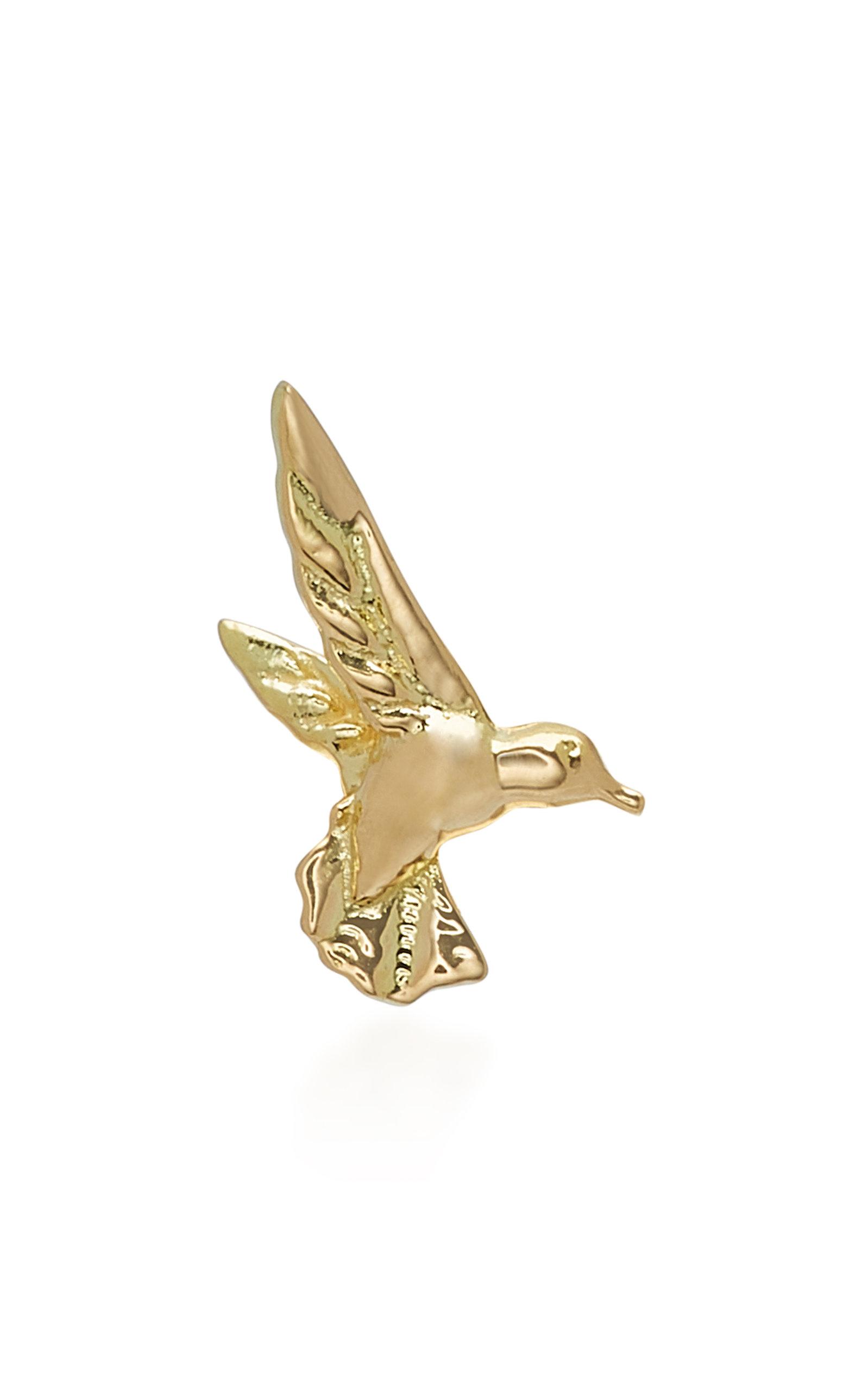 BRENT NEALE HUMMINGBIRD 18K GOLD DIAMOND EARRING
