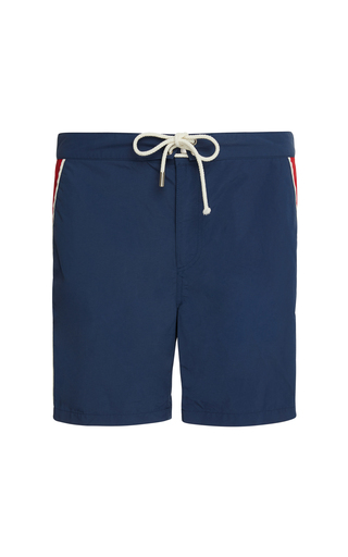 SOLID & STRIPED | Solid & Striped The Boardshort Piped Swim Trunks | Goxip