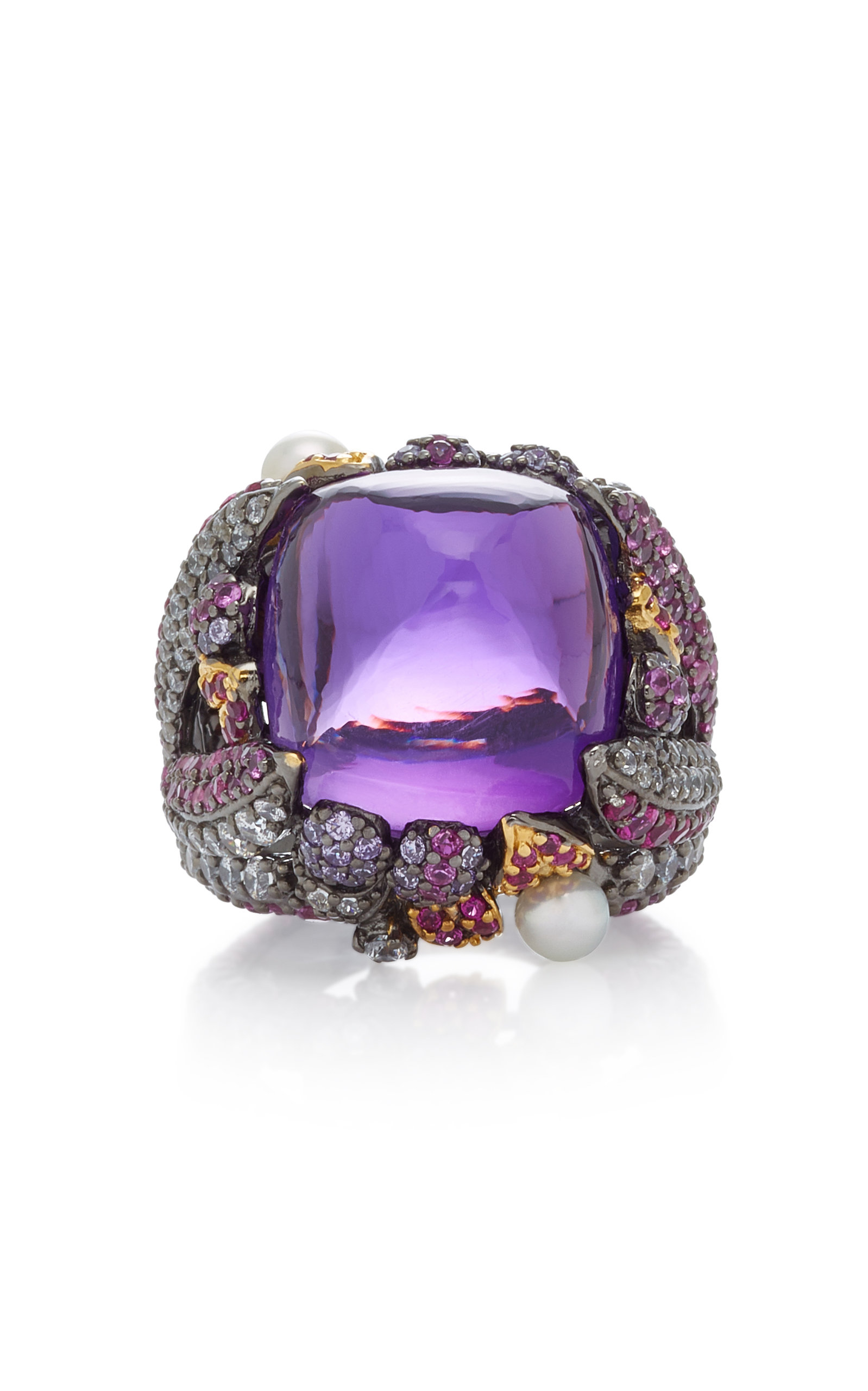 ANABELA CHAN Sugarloaf Berry 18K Gold Vermeil Multi-Stone Ring in Purple