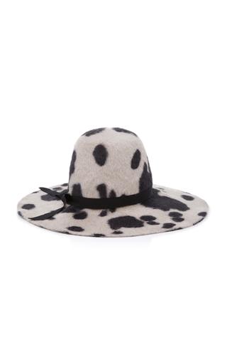 GIGI BURRIS | Gigi Burris Aliyah Printed Rabbit Fur Felt Hat | Goxip