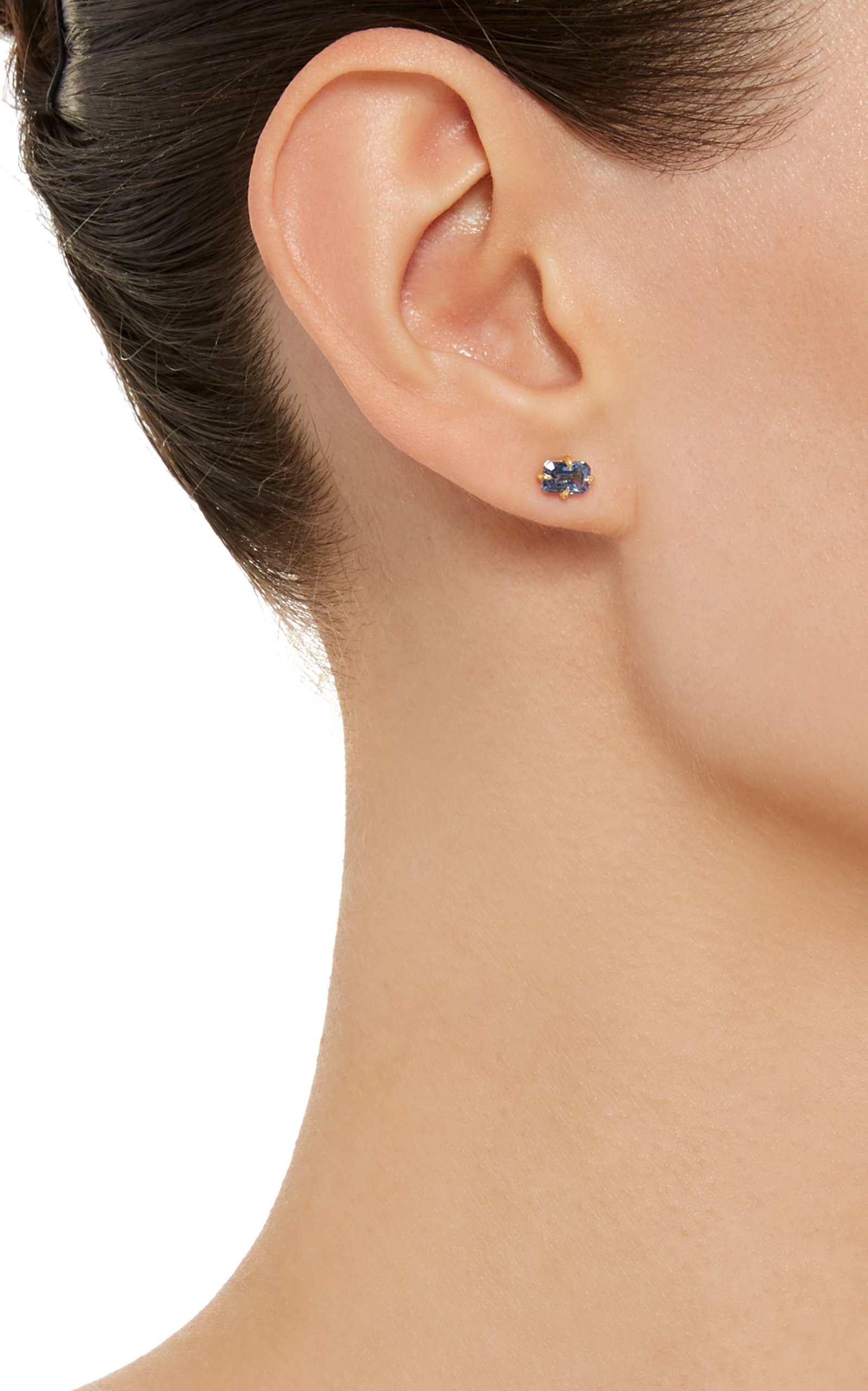 Amrin 14K Gold Blue Sapphire Stud Earrings Ila 0xUkgXs