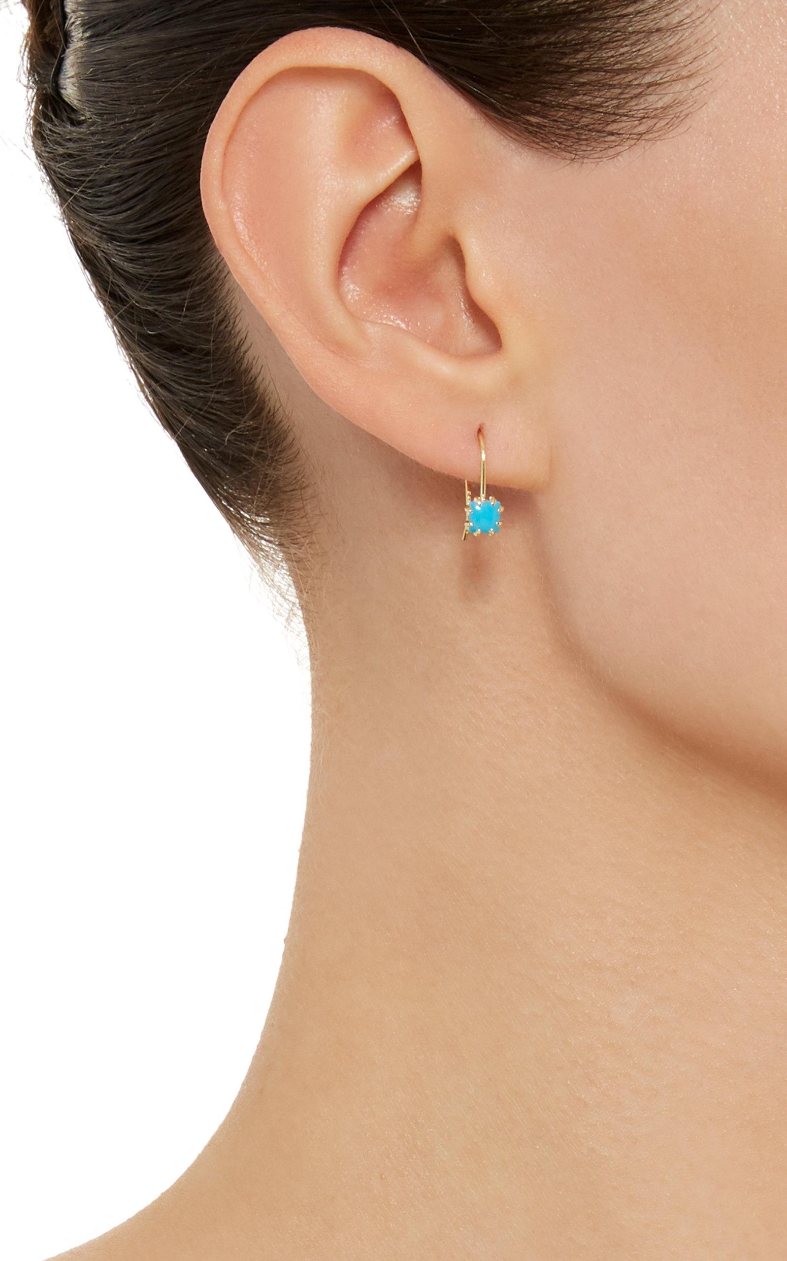 Zephyr 14K Gold Turquoise Earrings Ila HOA1yS8r
