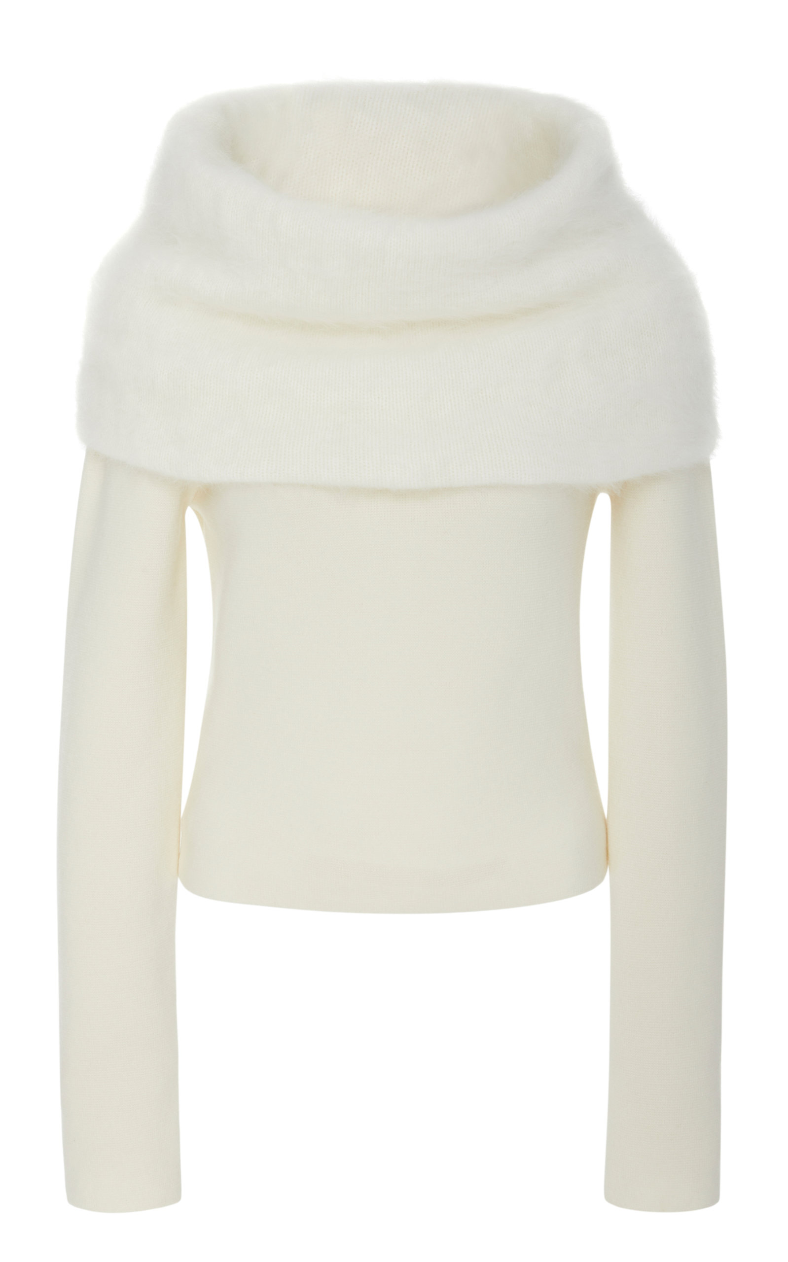 YEON M'O Exclusive Ileana Knitted Sweater in White