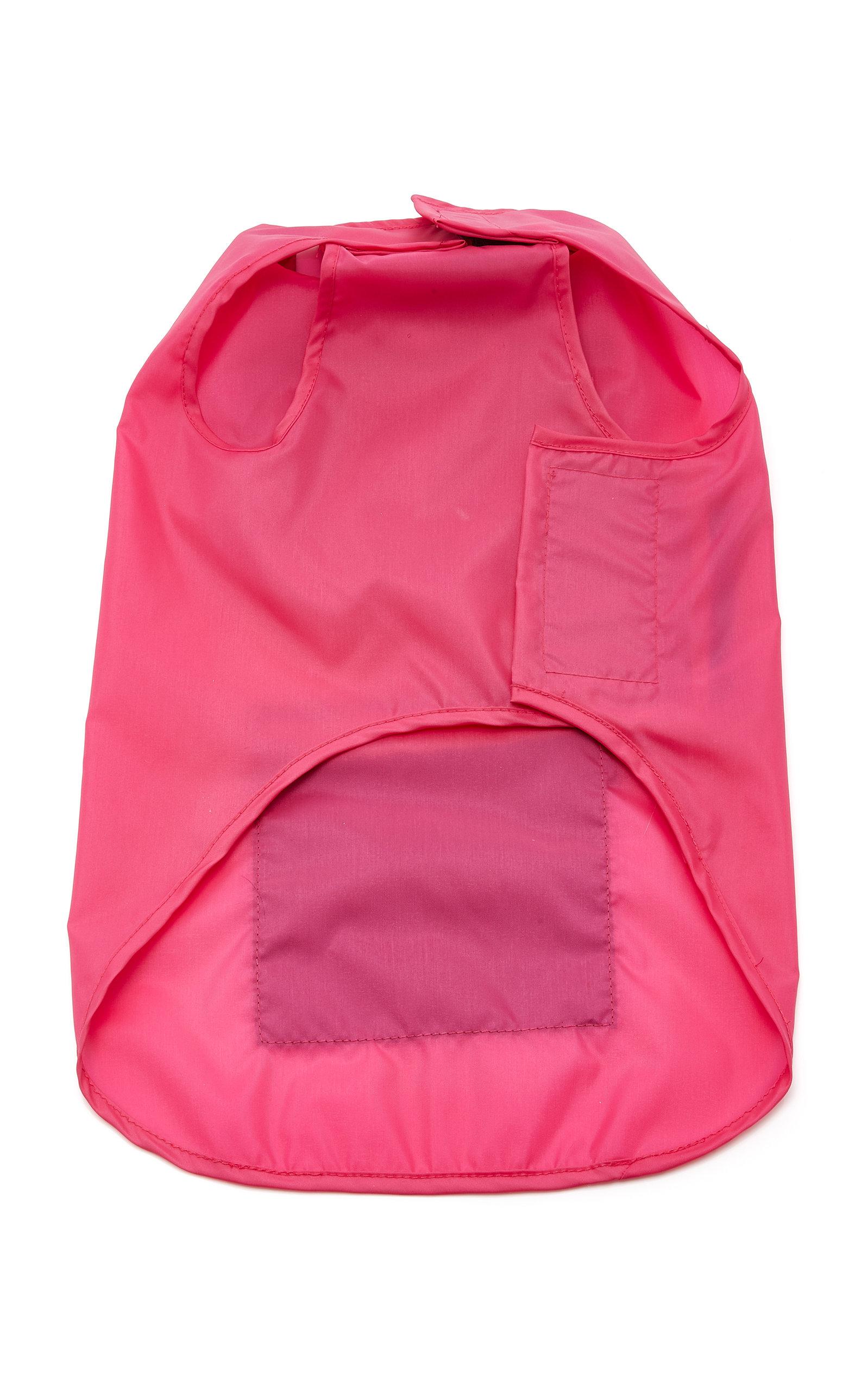WARE OF DOG Large Colorblock Anorak Raincoat in Pink