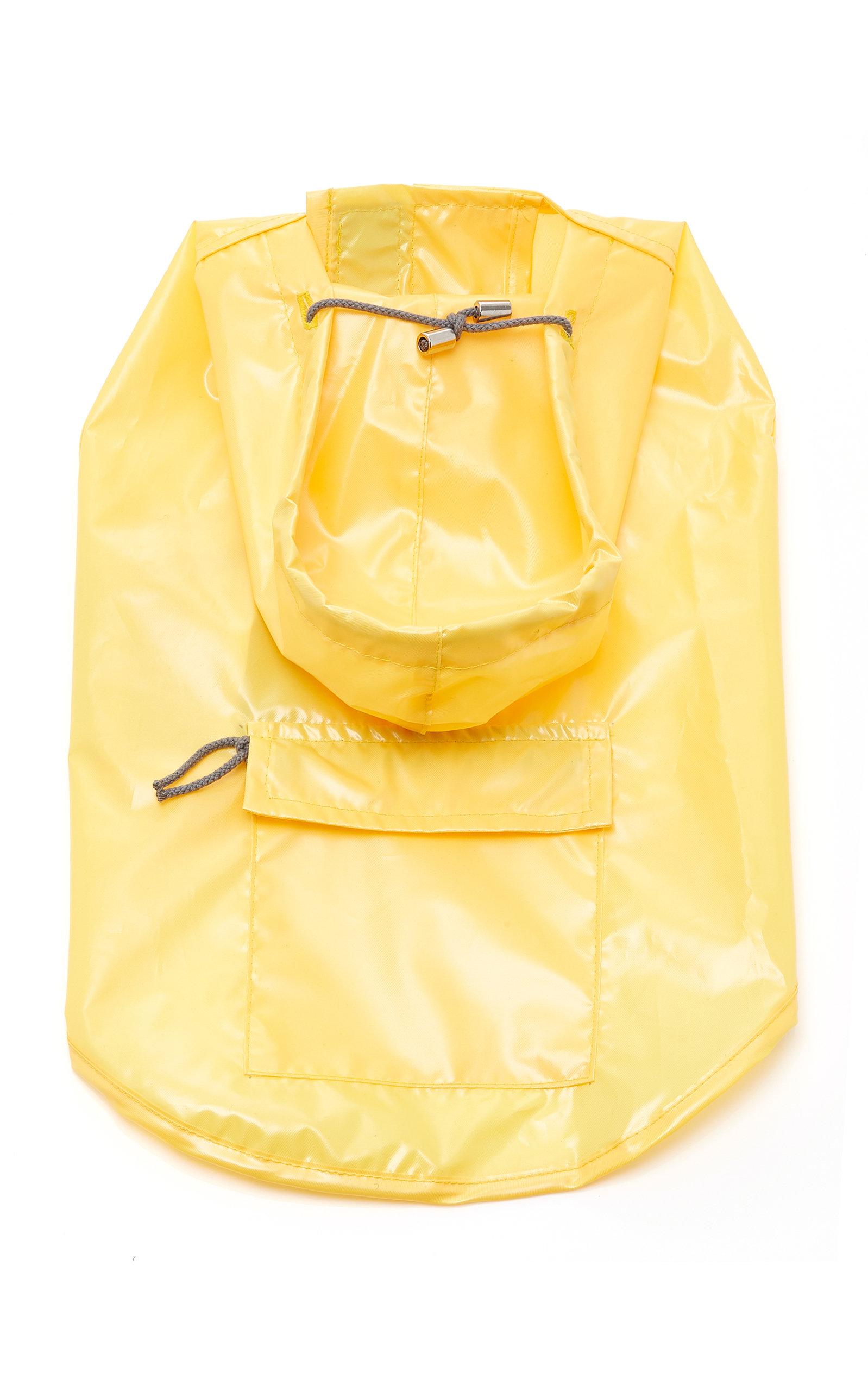 WARE OF DOG Medium Anorak Raincoat With Hood in Yellow