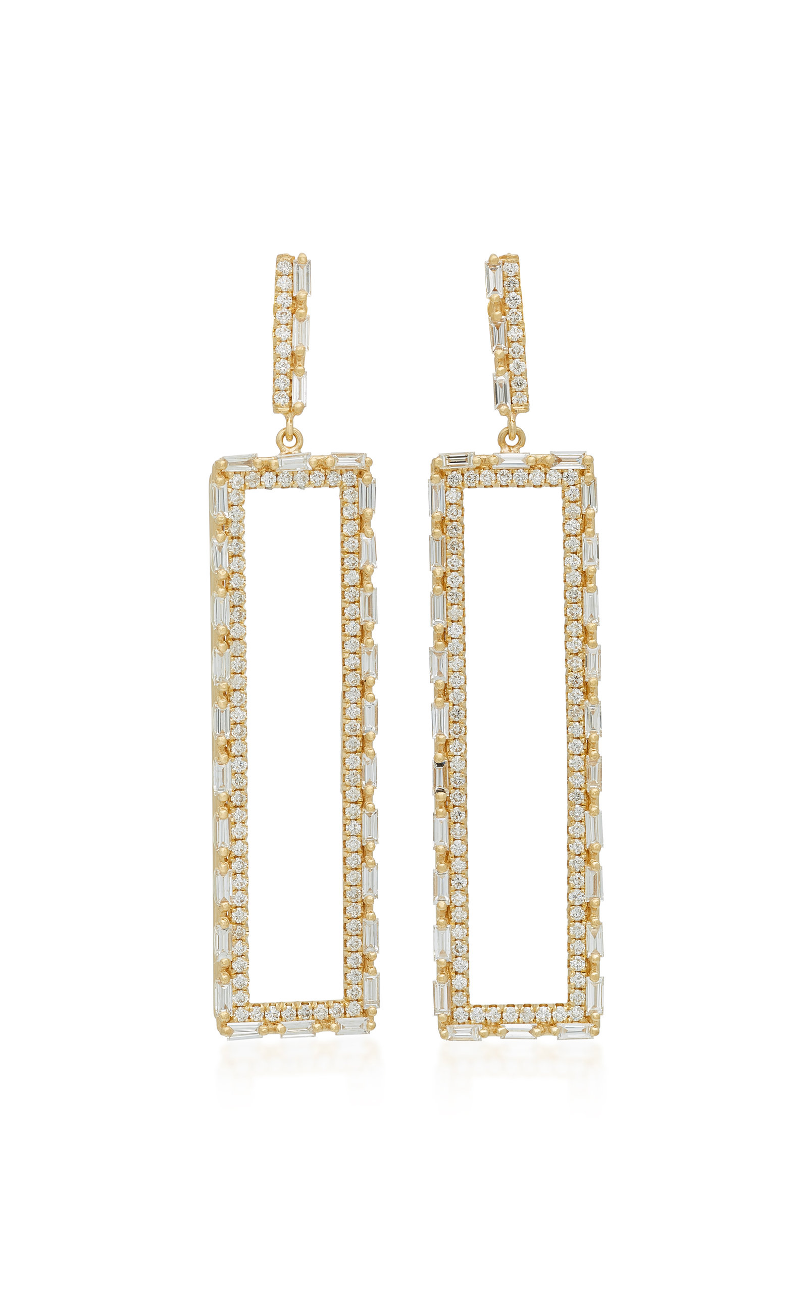 diamond rectangulars stud earrings unique gold products sale rectangular