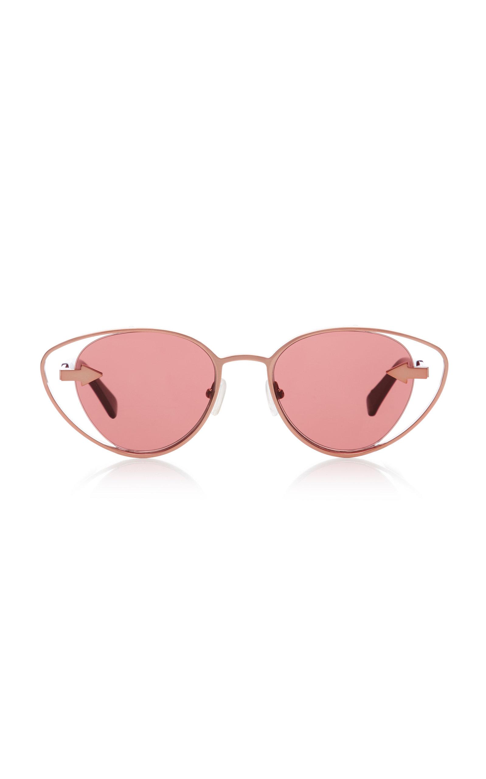 cc5df7a3dcc8 Karen Walker Kissy Kissy Cat-Eye Sunglasses In Pink | ModeSens