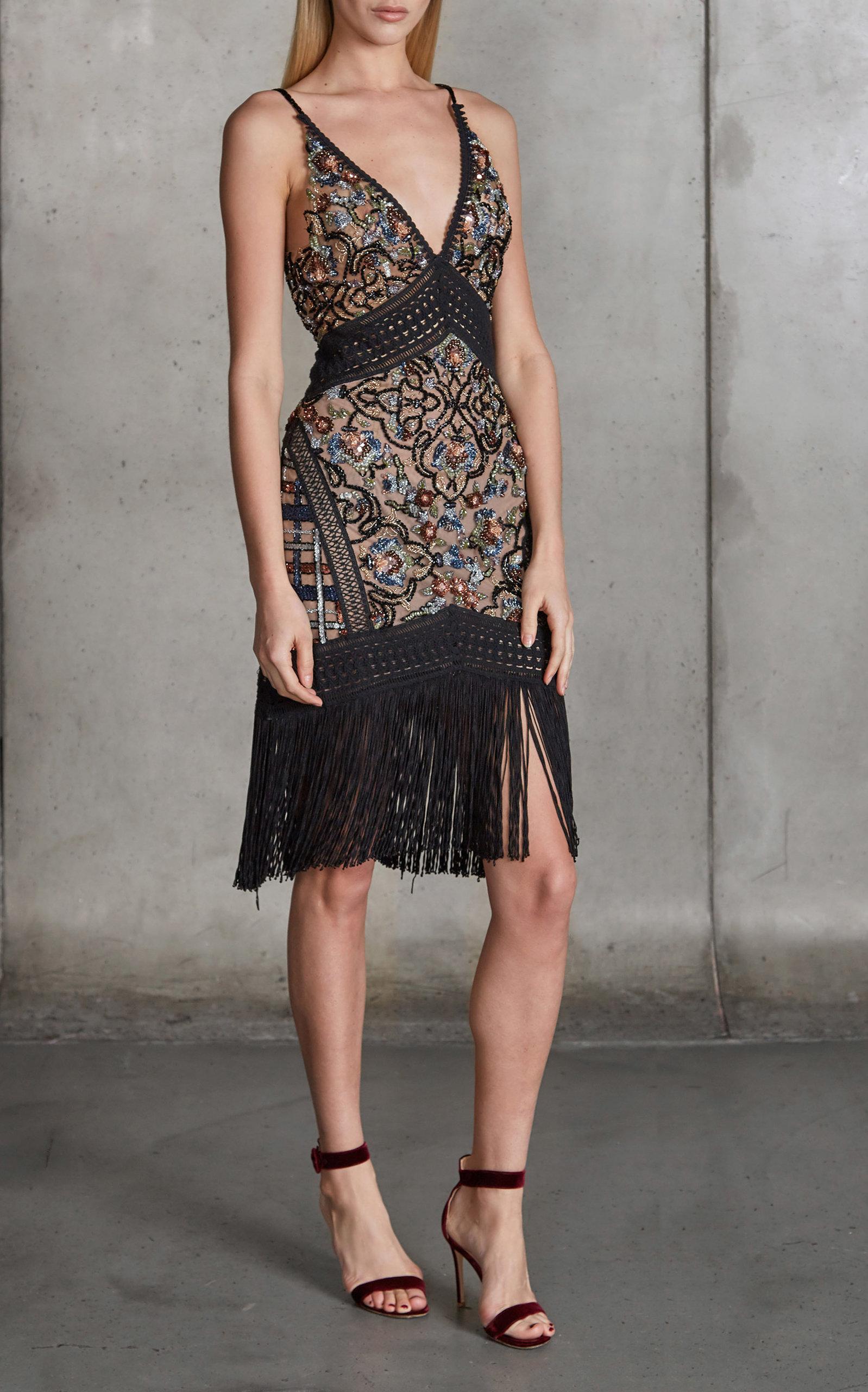 Fringe Cocktail Dress by PatBO | Moda Operandi