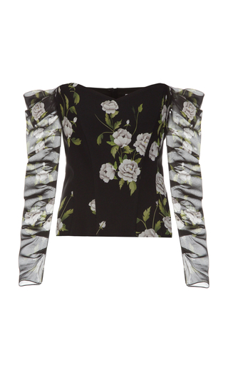 ELENAREVA | ELENAREVA Floral-Print Bustier Top | Goxip