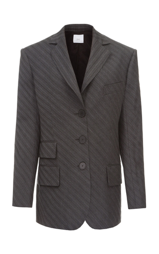 ELENAREVA | ELENAREVA Oversized Striped Jacket | Goxip