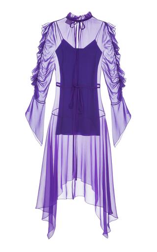 ELENAREVA | ELENAREVA Chiffon Ultra Violet Mini Dress | Goxip