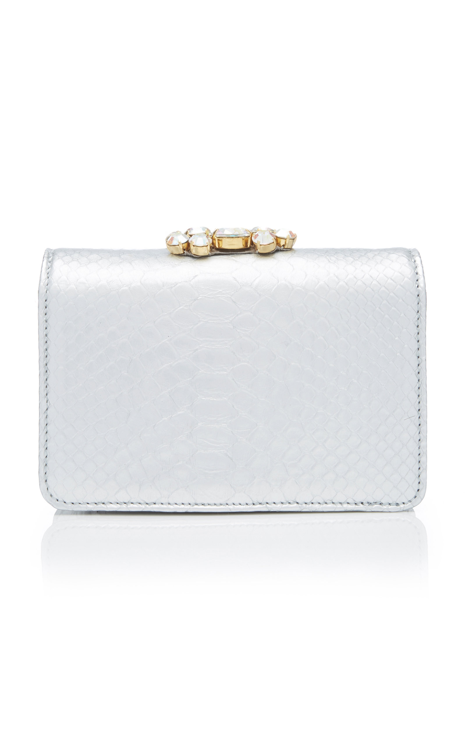 Mini Clicky Python Clutch with Crystals