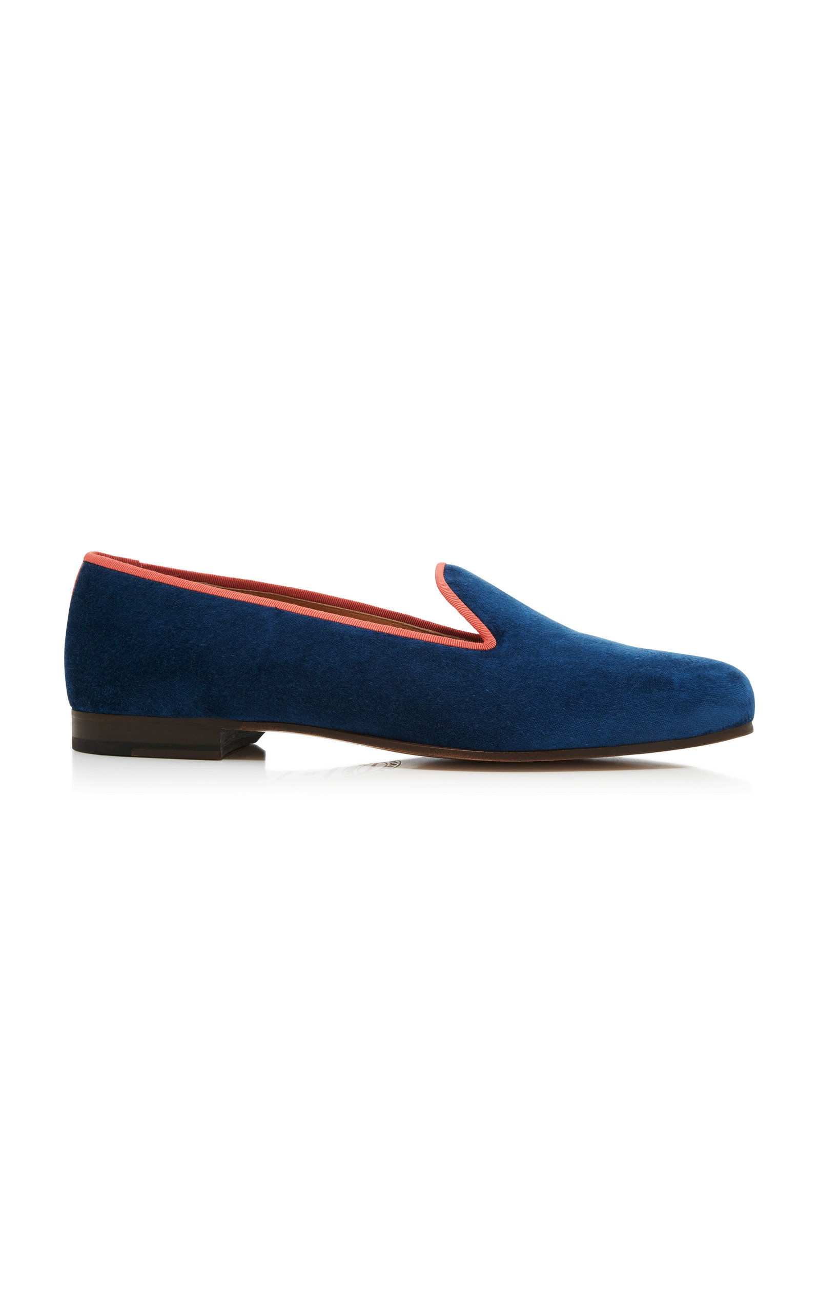 STUBBS & WOOTTON Exclusive Kingfisher Velvet Slippers in Blue