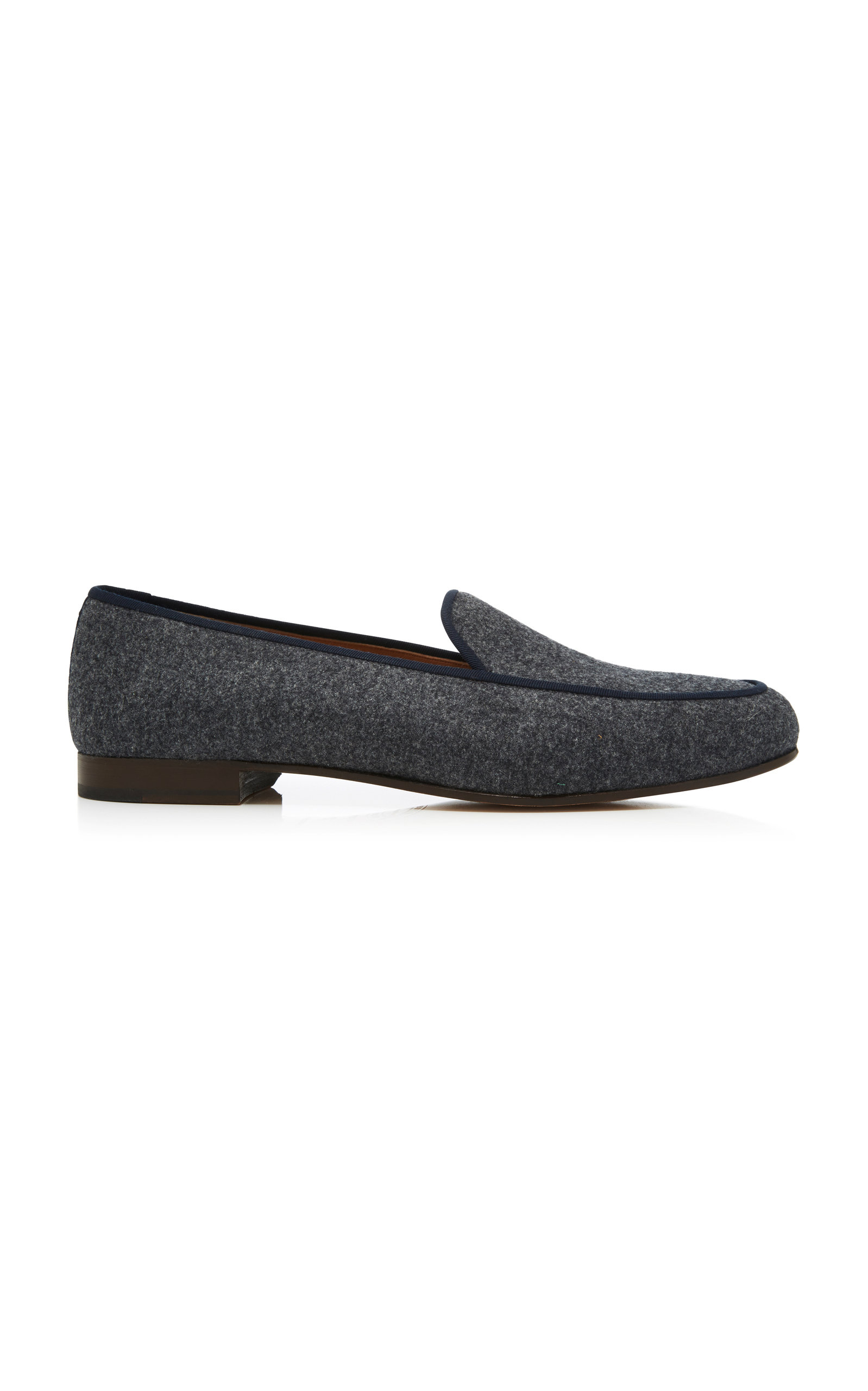 STUBBS & WOOTTON Exclusive Wool Slippers in Grey