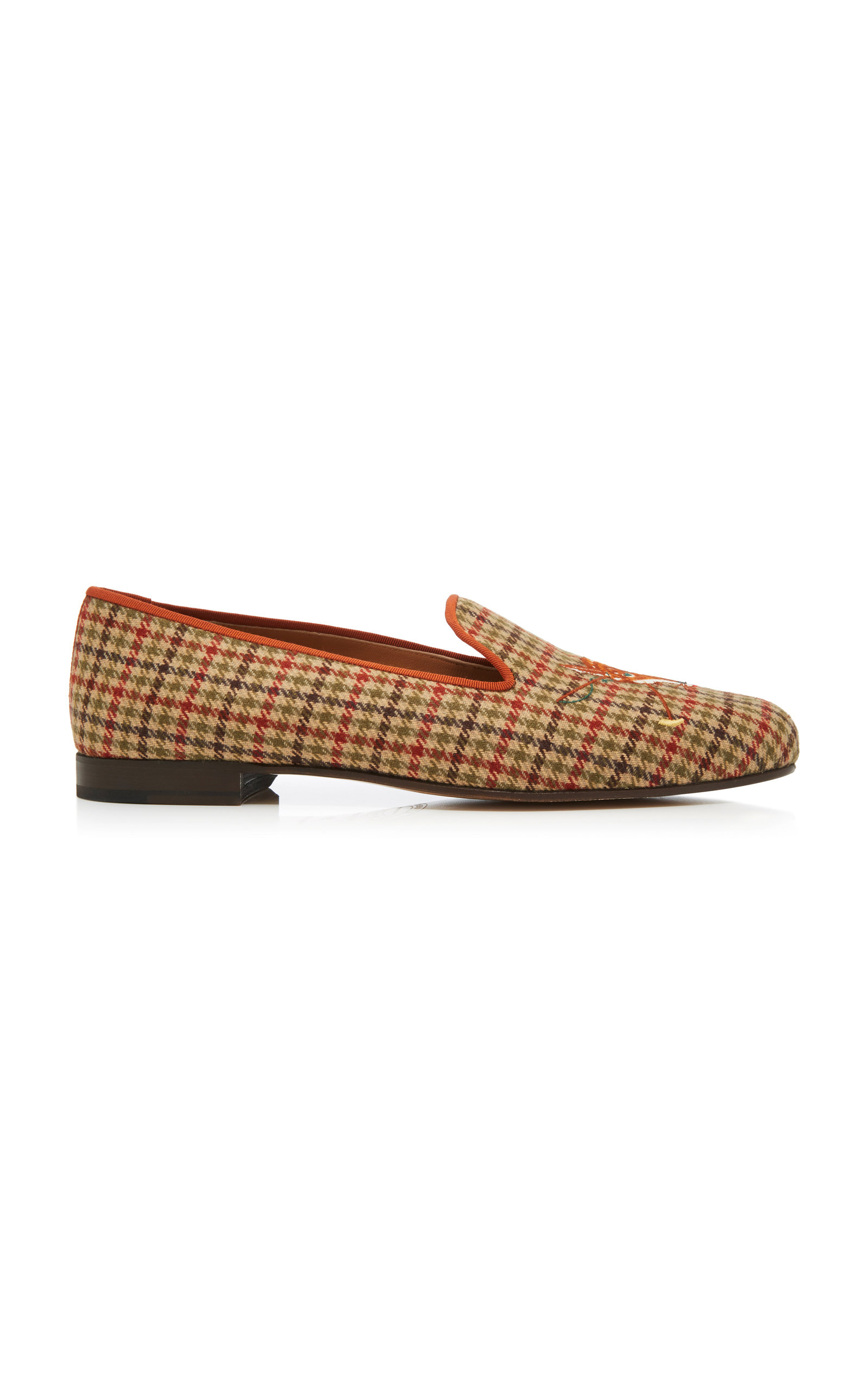 STUBBS & WOOTTON M'O Exclusive Fox Tweed Slippers in Plaid
