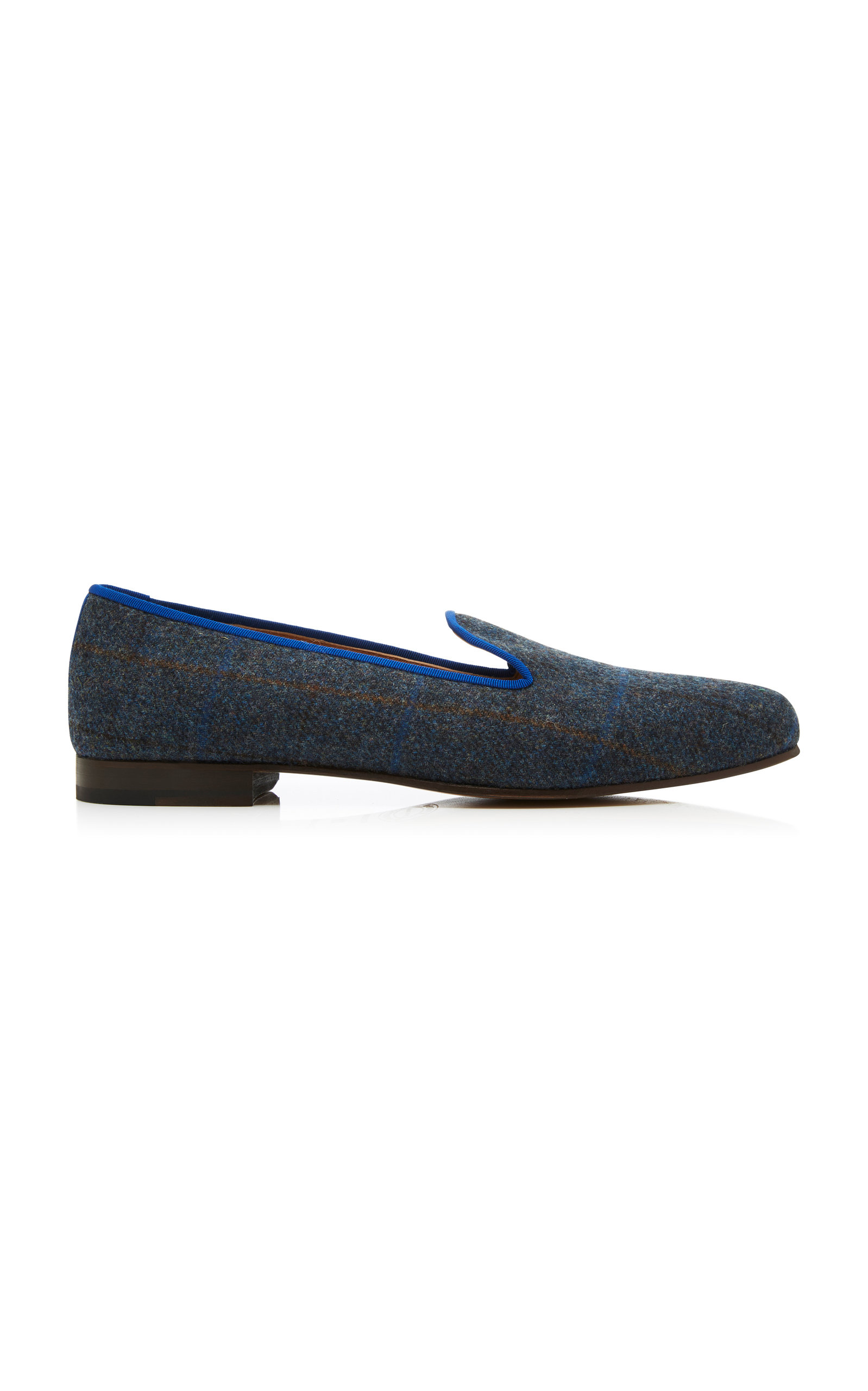 STUBBS & WOOTTON M'O Exclusive Plaid Tweed Slippers