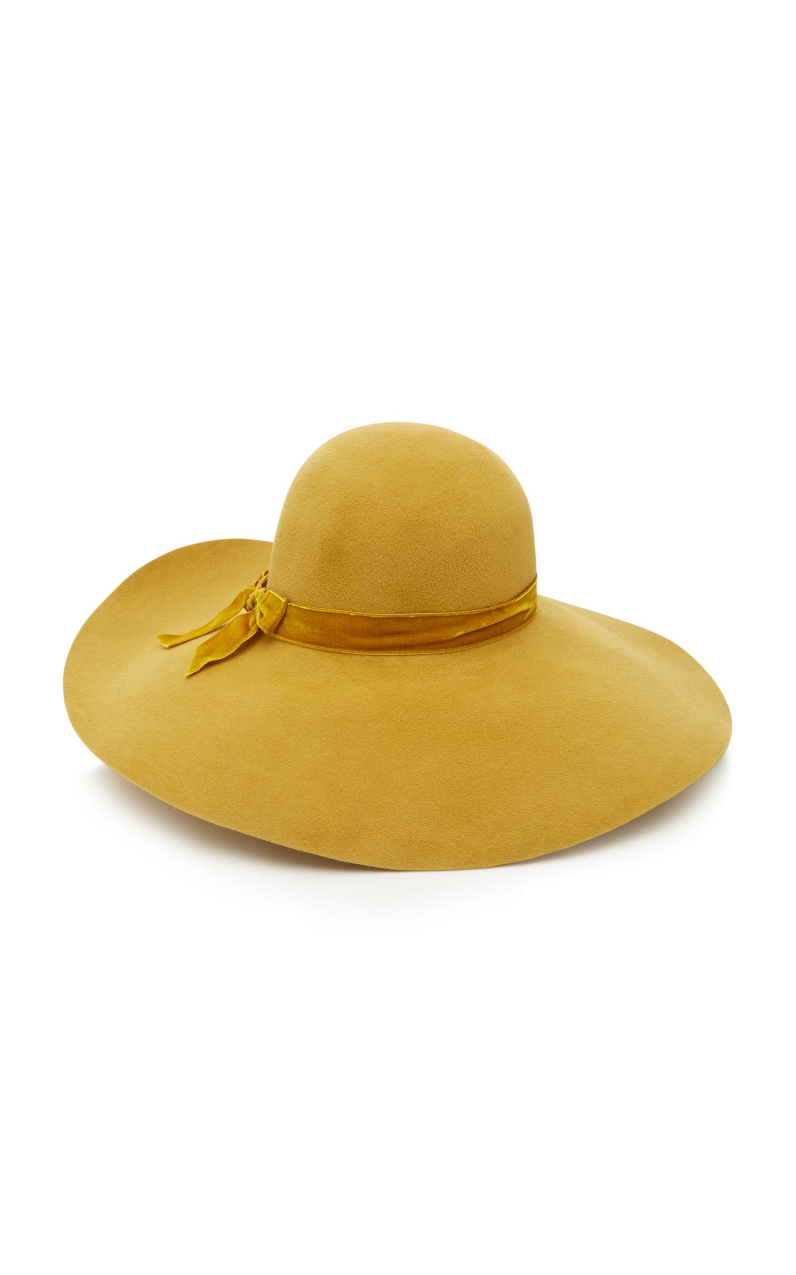 YESTADT MILLINERY Goldy Wide-Brim Felt Hat