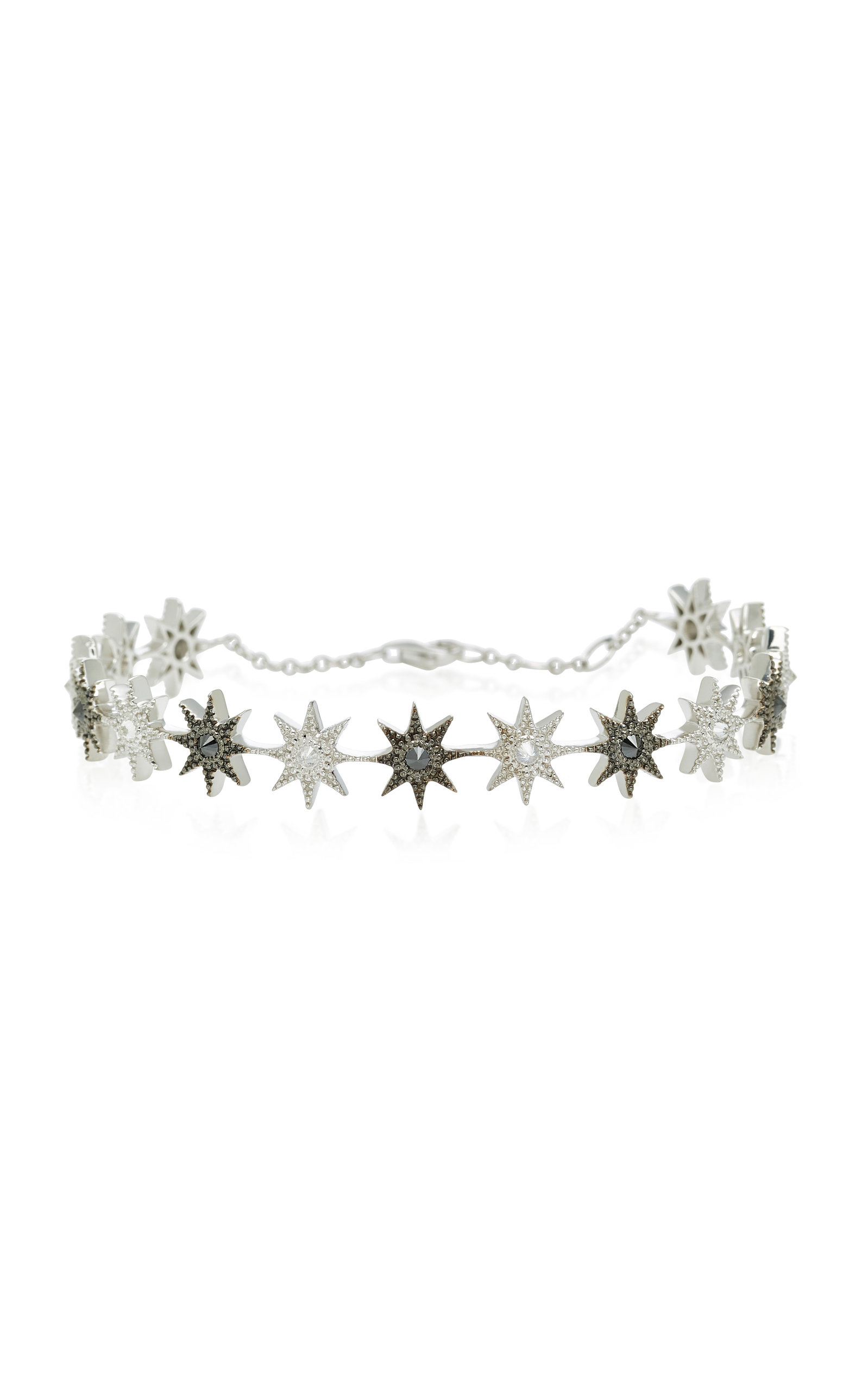 COLETTE JEWELRY GLOW STAR 18K BLACK AND WHITE GOLD DIAMOND BRACELET