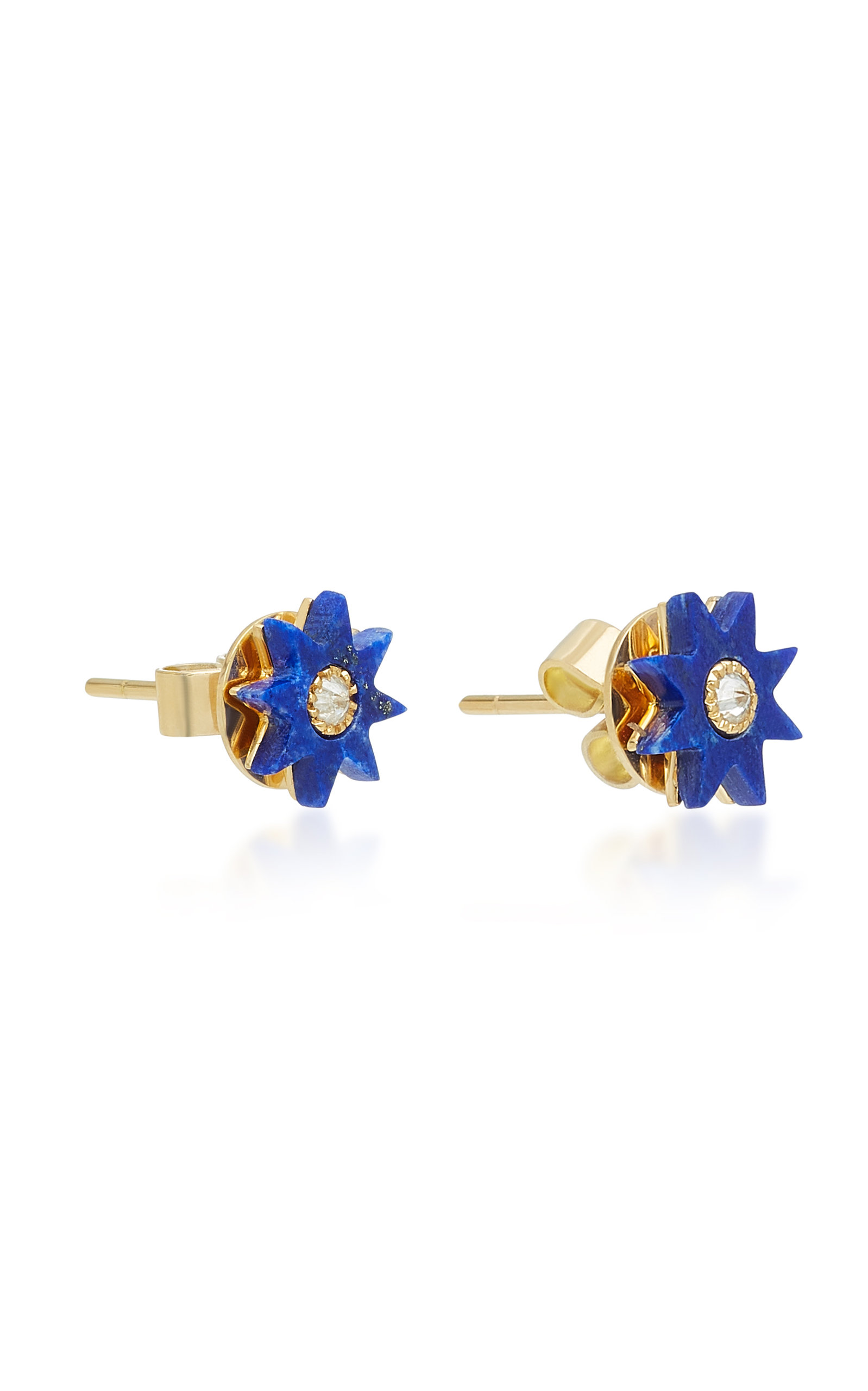 Star 18K Gold Lapis Earrings Colette Jewelry hxKhJ