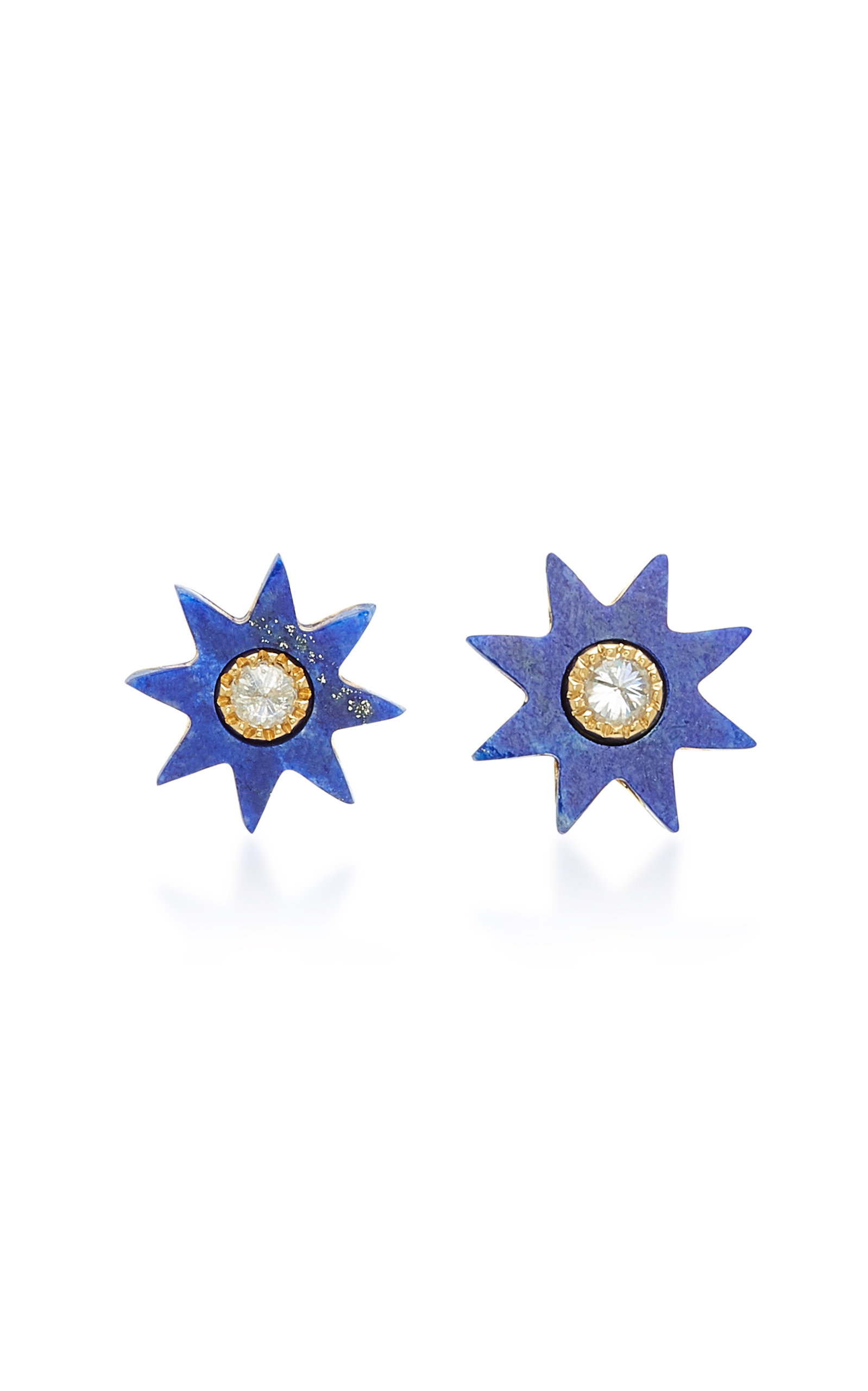 COLETTE JEWELRY STAR 18K GOLD LAPIS EARRINGS