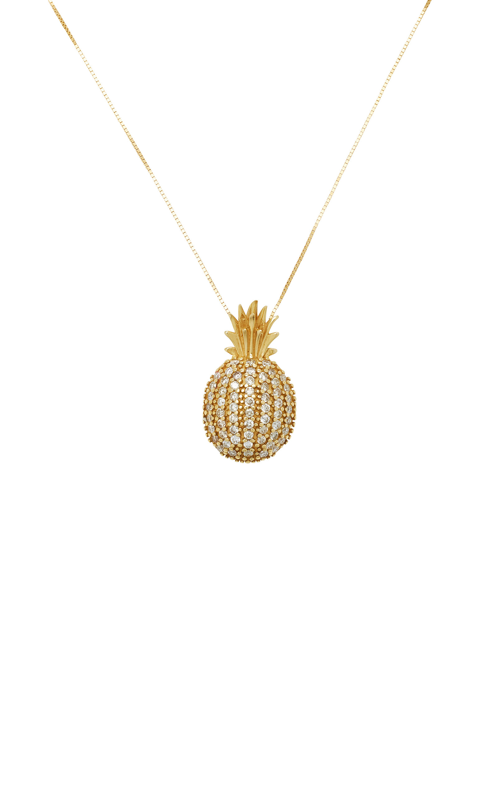 crystal necklace pineapple