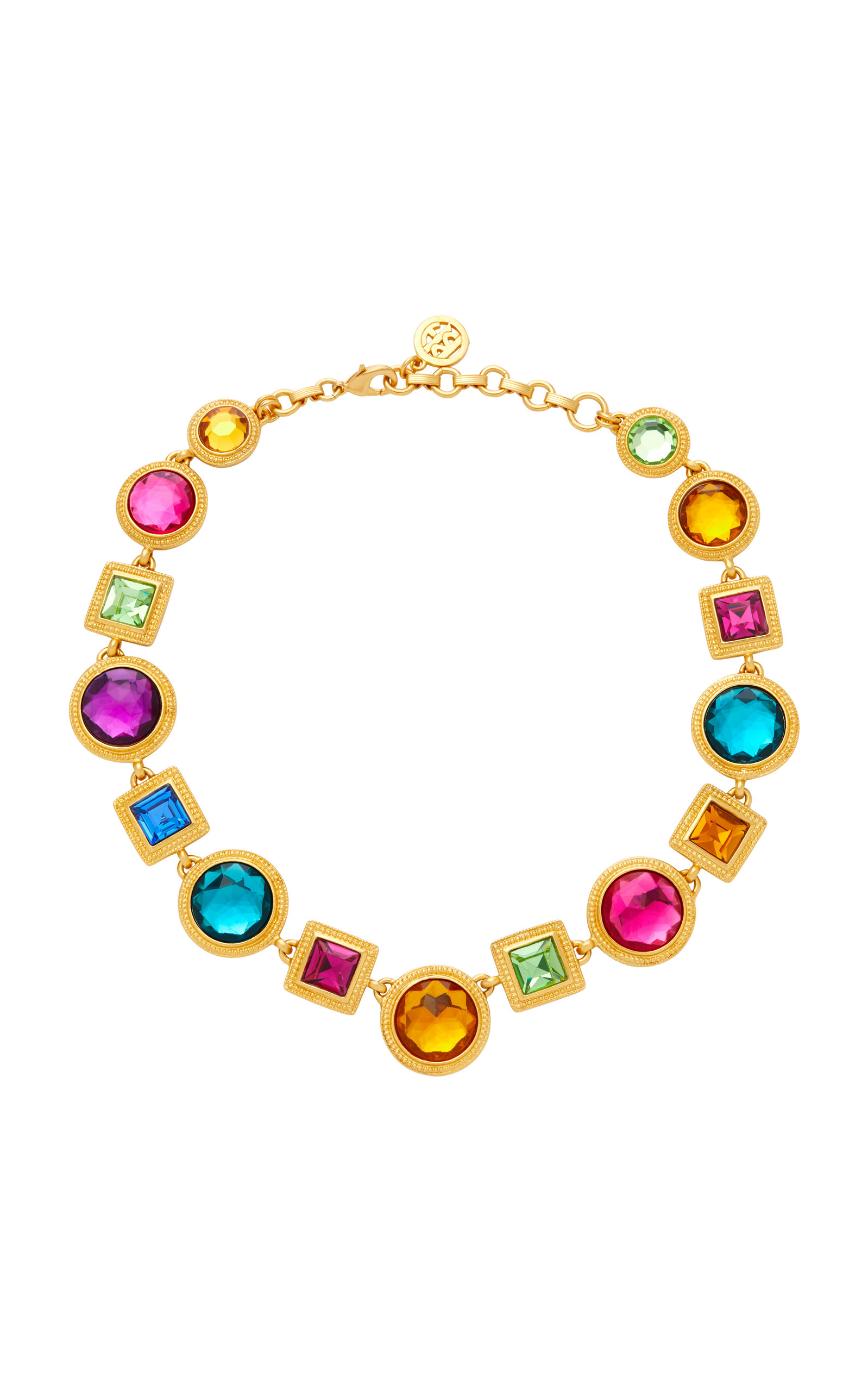 BEN AMUN GOLD-PLATED CRYSTAL NECKLACE