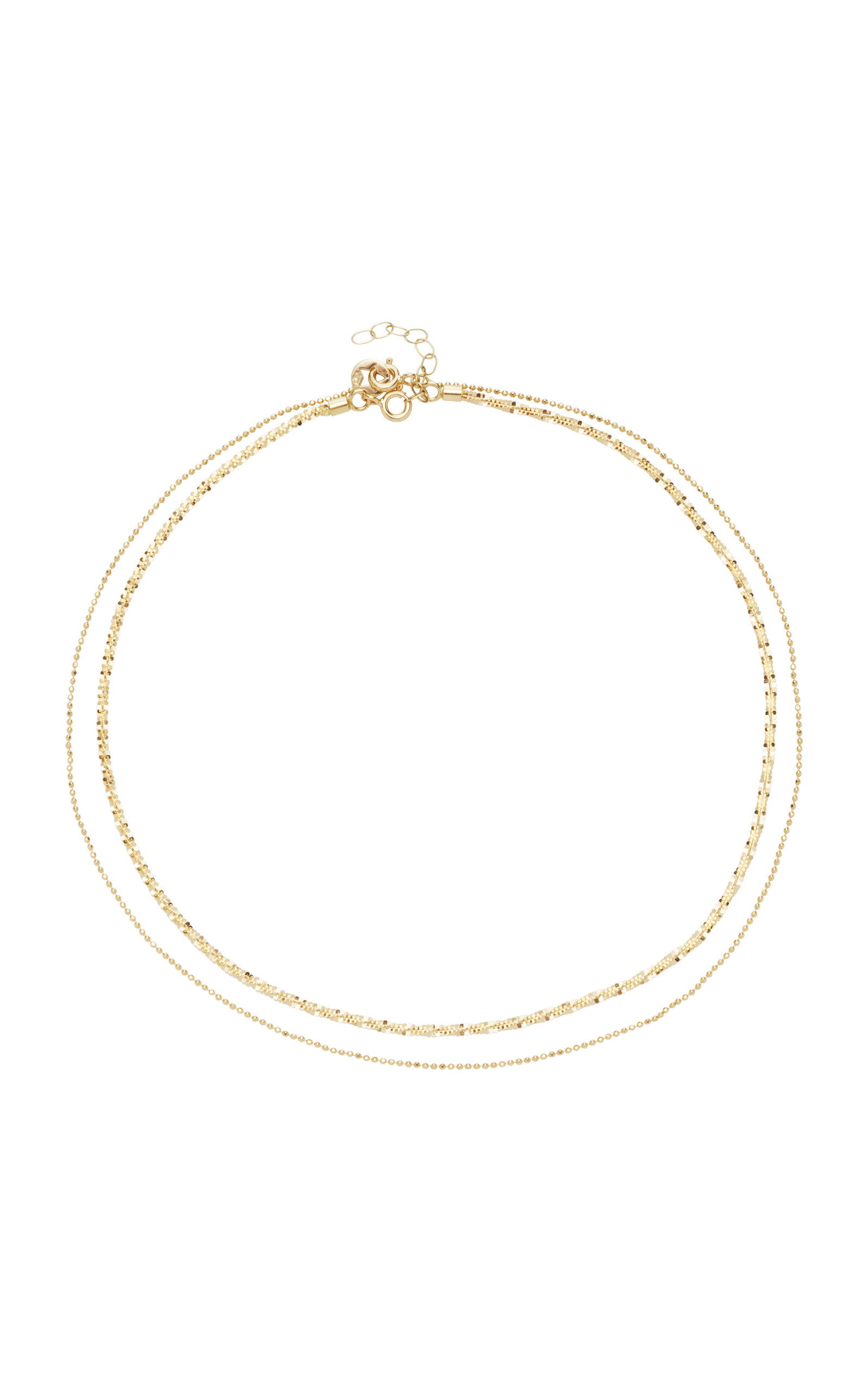LIL MILAN SET-OF-TWO 18K GOLD CHOKERS