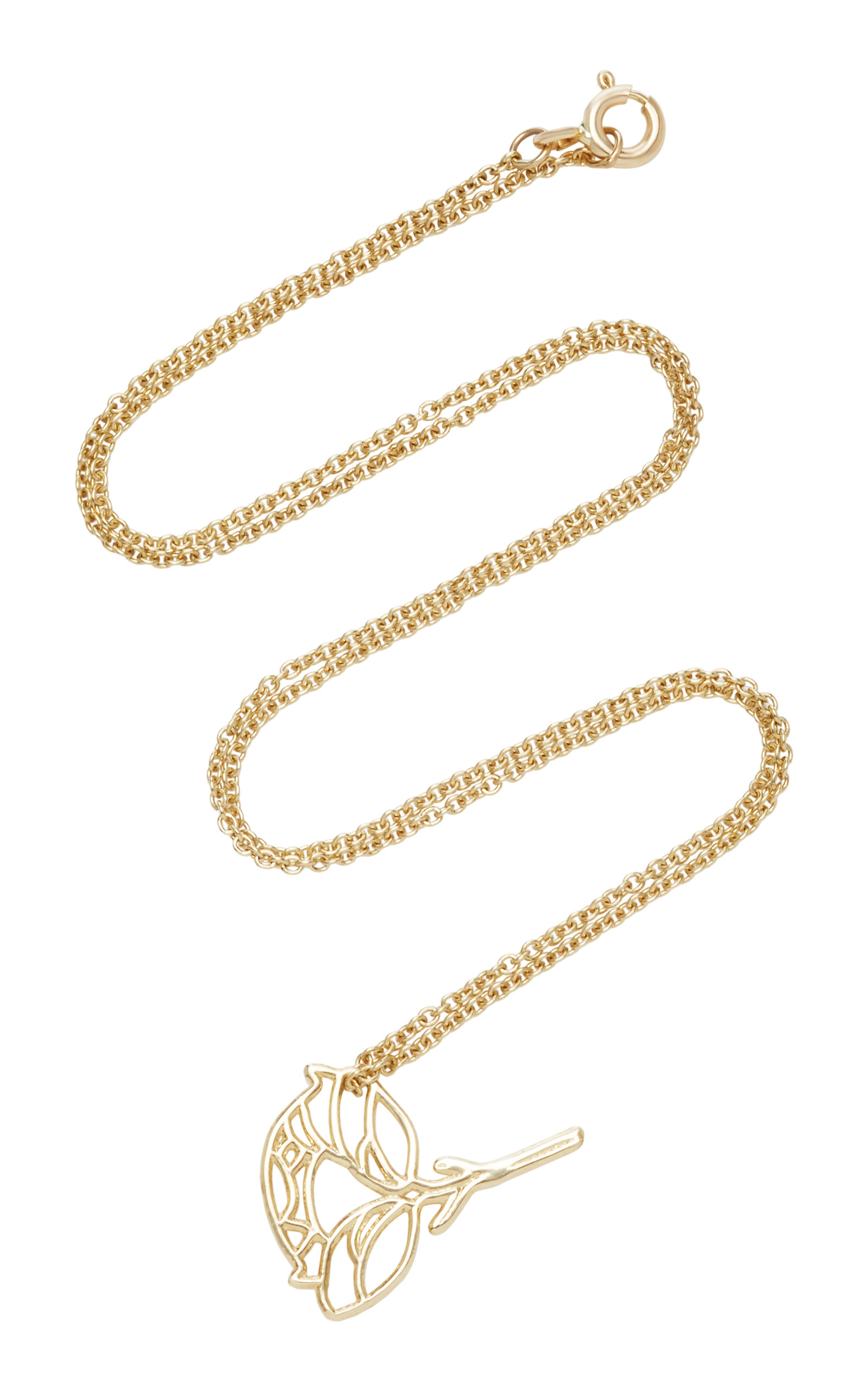 LIL MILAN PEONY 18K GOLD NECKLACE