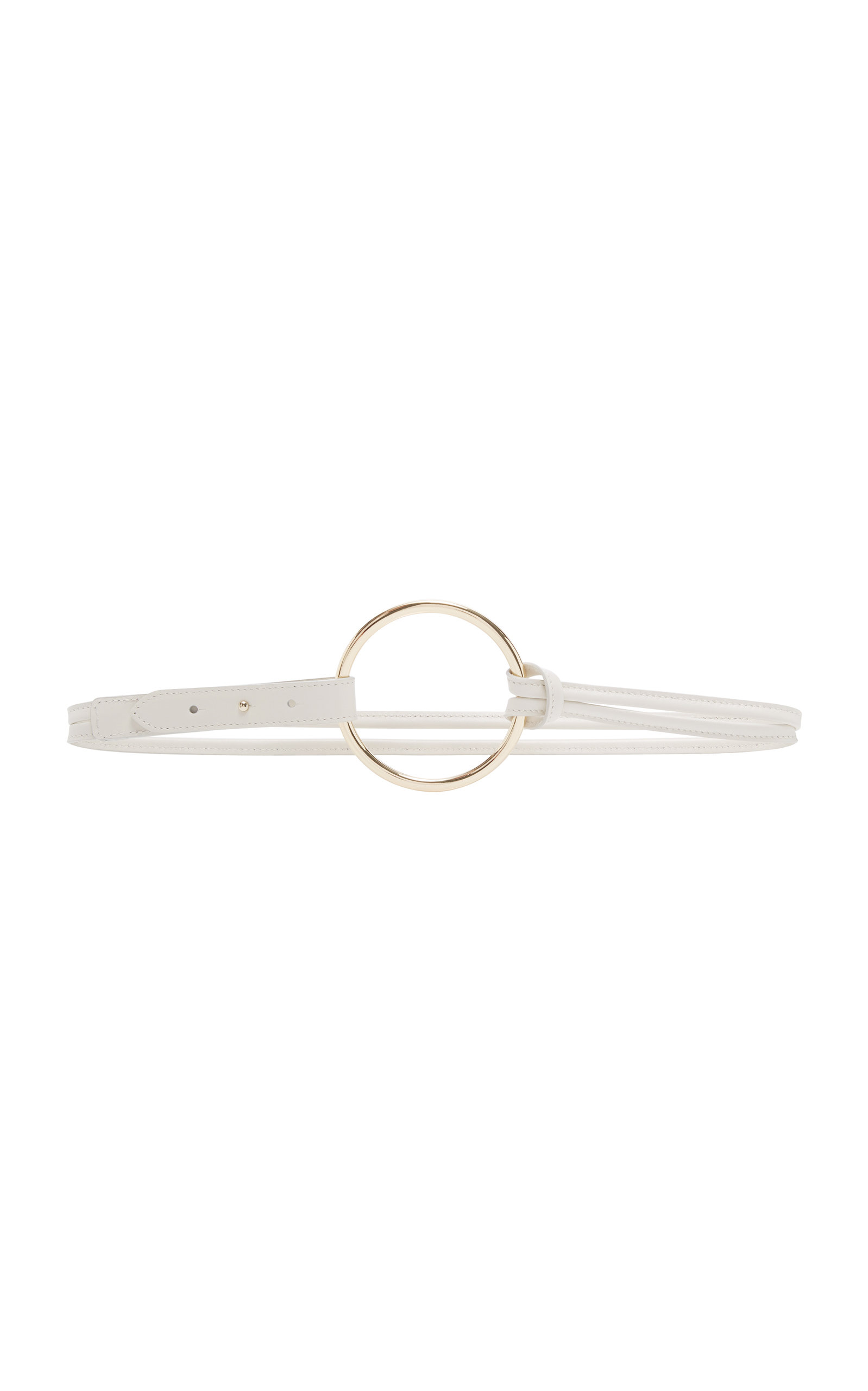 MAISON BOINET M'O EXCLUSIVE DOUBLE STRAP RING LEATHER BELT