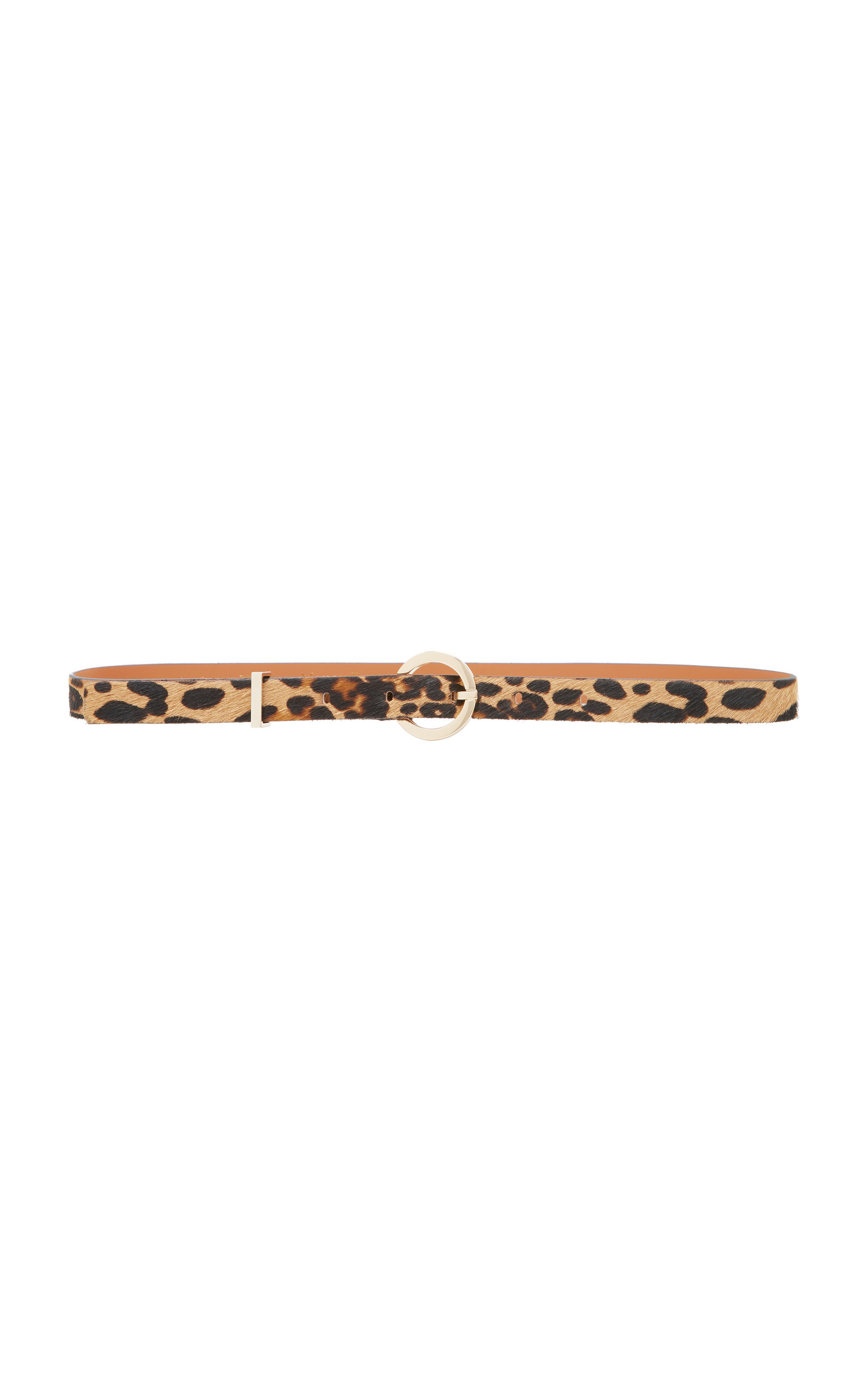 MAISON BOINET LEOPARD PRINT LEATHER AND CALF HAIR BELT