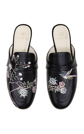 ALEPEL | Alepel M'O Exclusive: Roses and Swallow Mule | Goxip