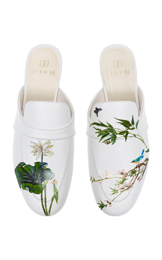 ALEPEL | Alepel M'O Exclusive: White Lotus Mule | Goxip