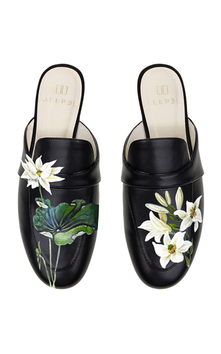 ALEPEL | Alepel M'O Exclusive: Black Lotus Mule | Goxip
