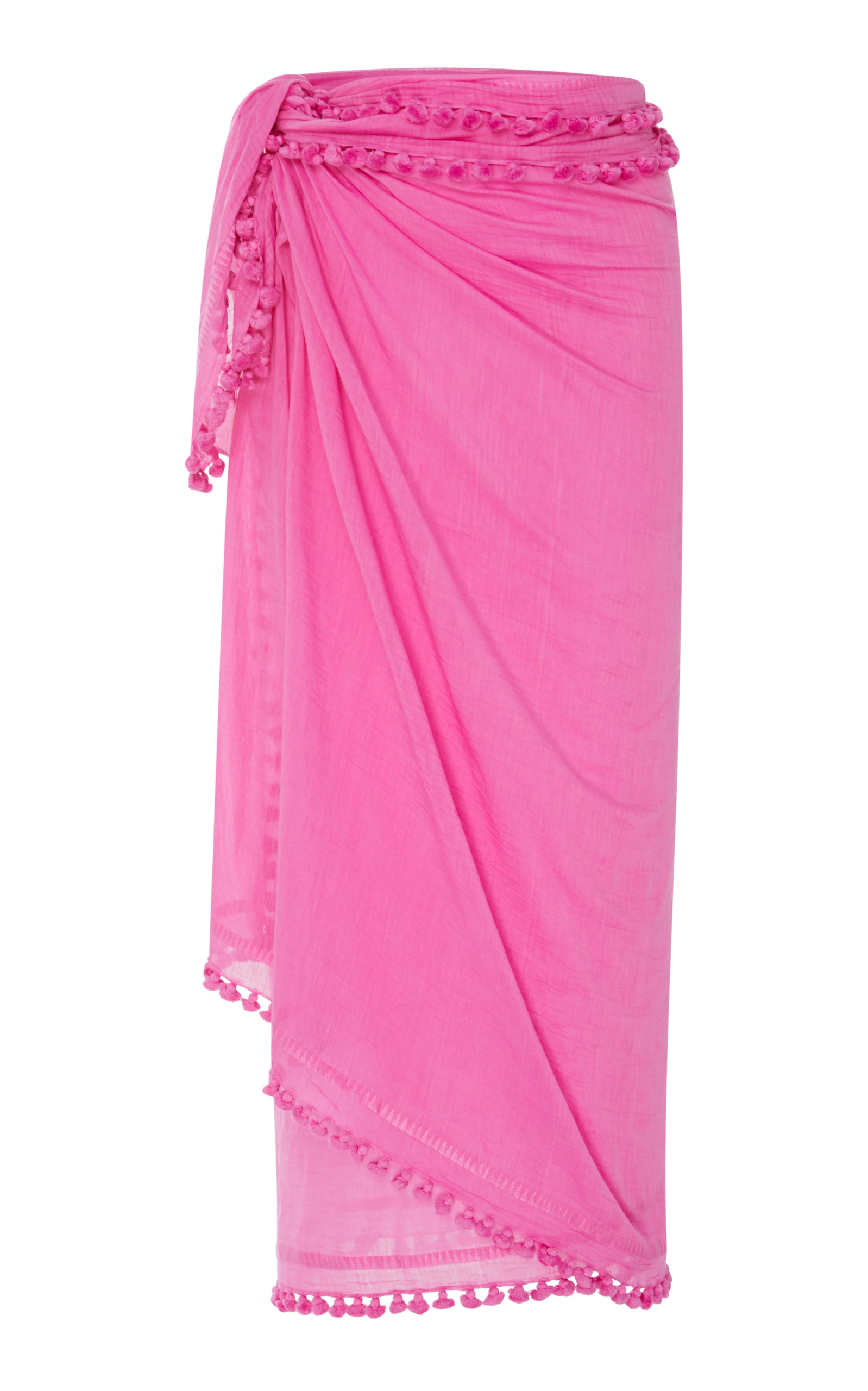MATTA DUPATTA TASSELED COTTON AND SILK SHAWL