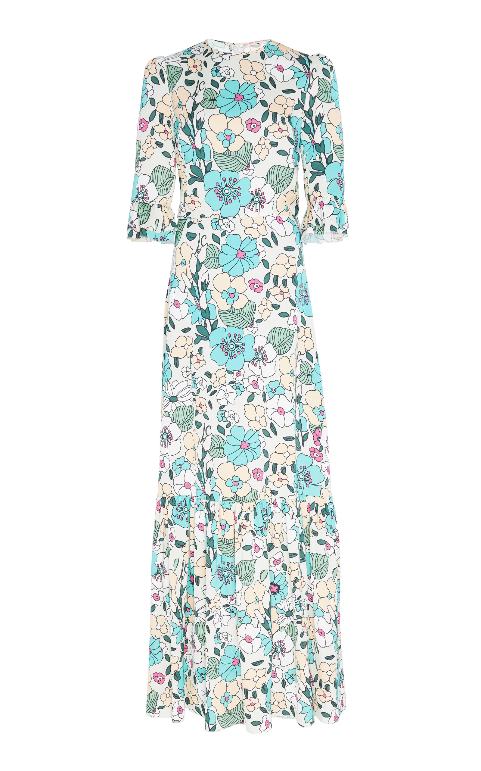 The Tea Floral Print Crepe Dress The Vampires Wife rS6Azg9kxh