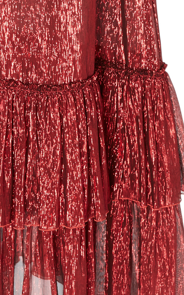 The Veneration Tiered Silk-Blend Gown The Vampires Wife Free Shipping Reliable 6t6R66URdR