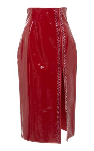 16ARLINGTON   16Arlington Patent Leather Pencil Skirt   Goxip