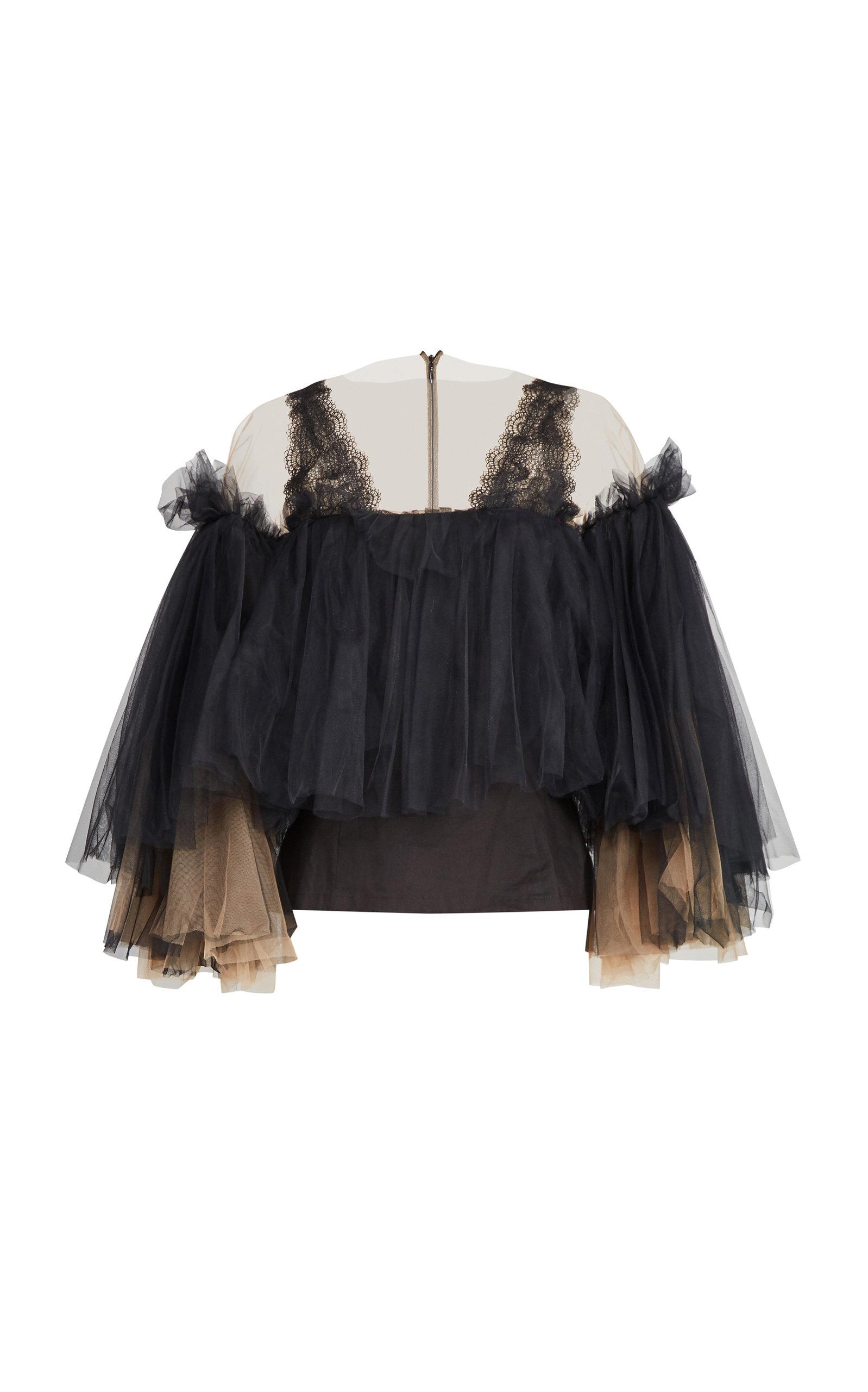 af69094a8db087 Ruffle Blouse by Yanina Demi Couture | Moda Operandi