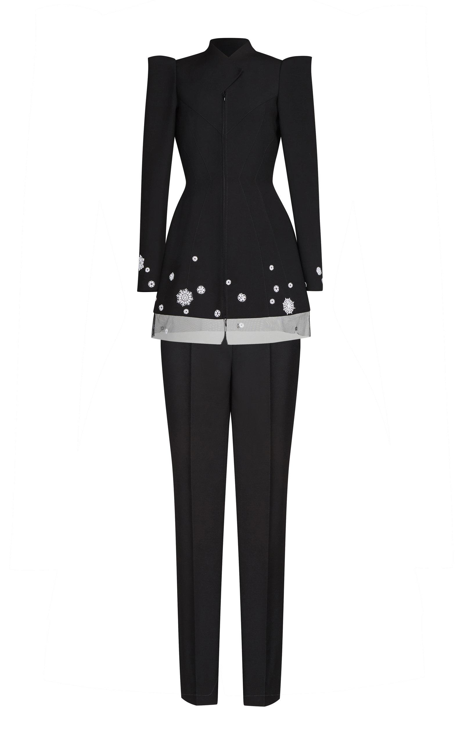 Wool Suit in Black