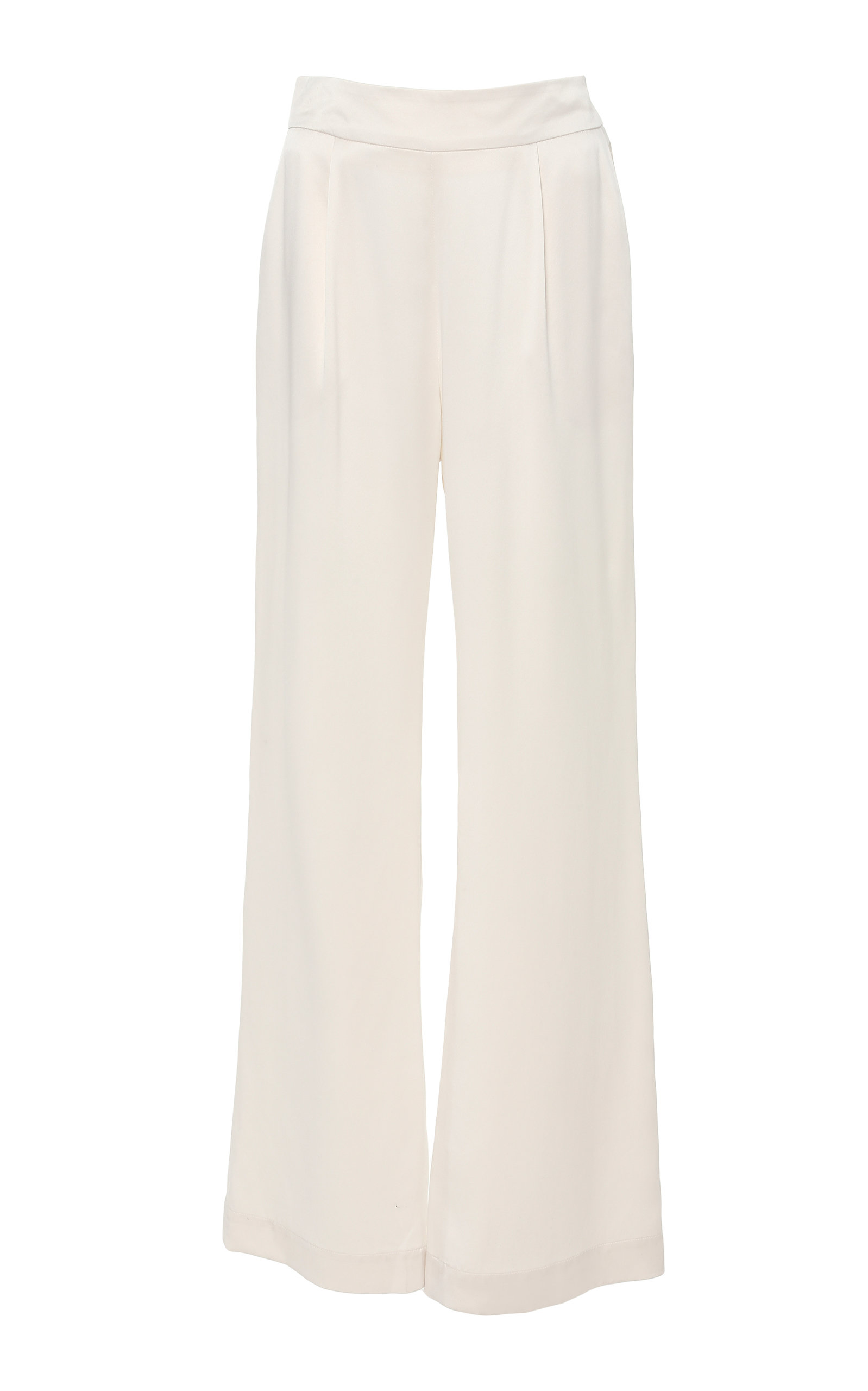 LA COLLECTION Gabrielle Silk Pant in White